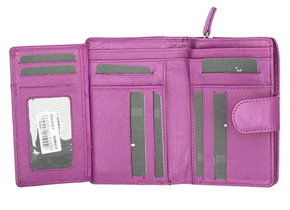 Ladies-Womens-Super-Soft-Large-Genuine-Leather-Purse-Wallet-Zipped-Coin-Section miniature 15