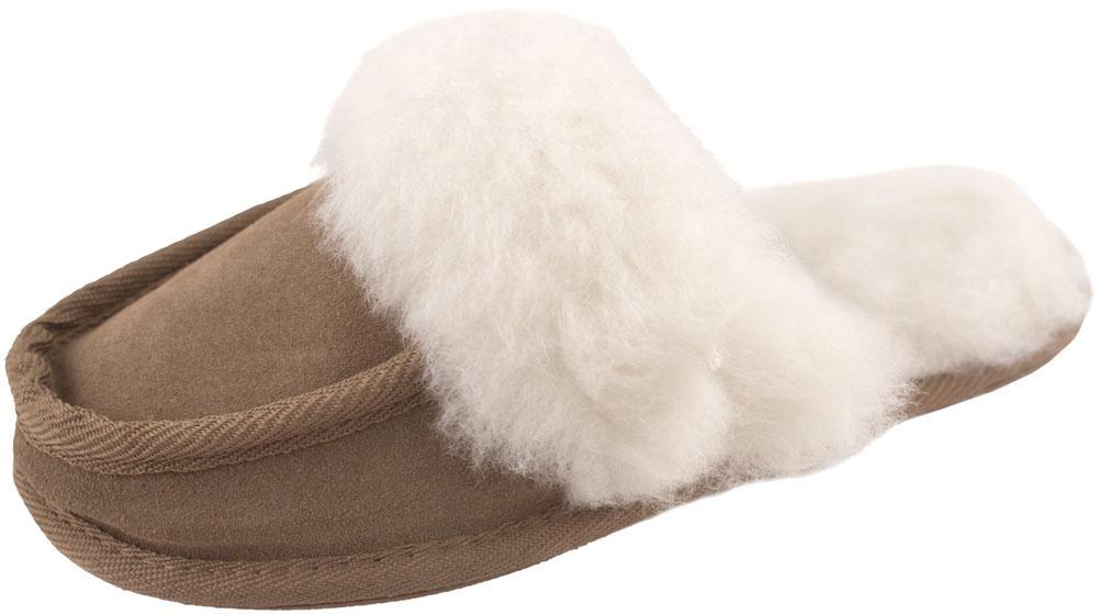 91fc5ee89d65 Ladies Womens Soft Genuine Lambswool Fluffy Sheepskin Suede Mule ...