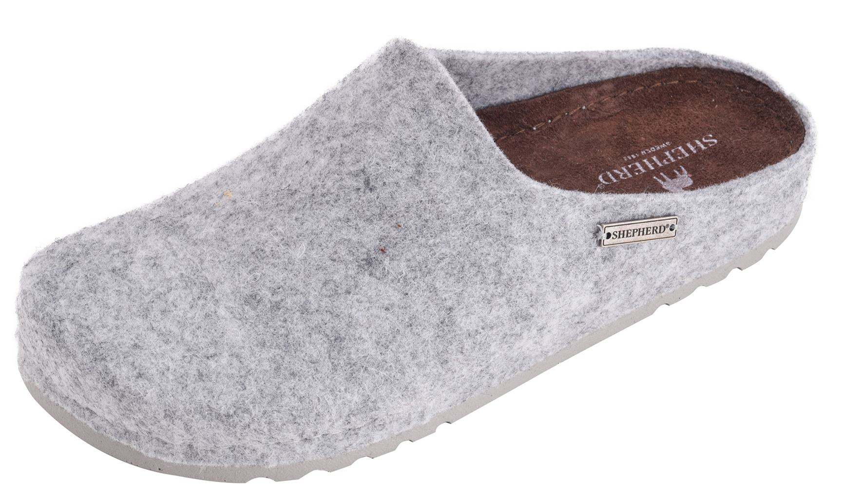 Sole Lambswool Slipper Genuine Scuff Ladies Open Grey Back Mule Orange Hard Itnqt8aw