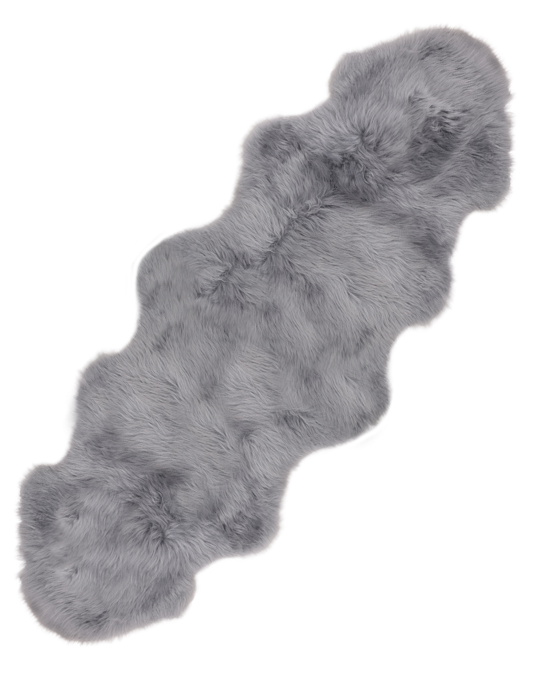 Silver Light Grey Super Soft Large Real Genuine Sheepskin