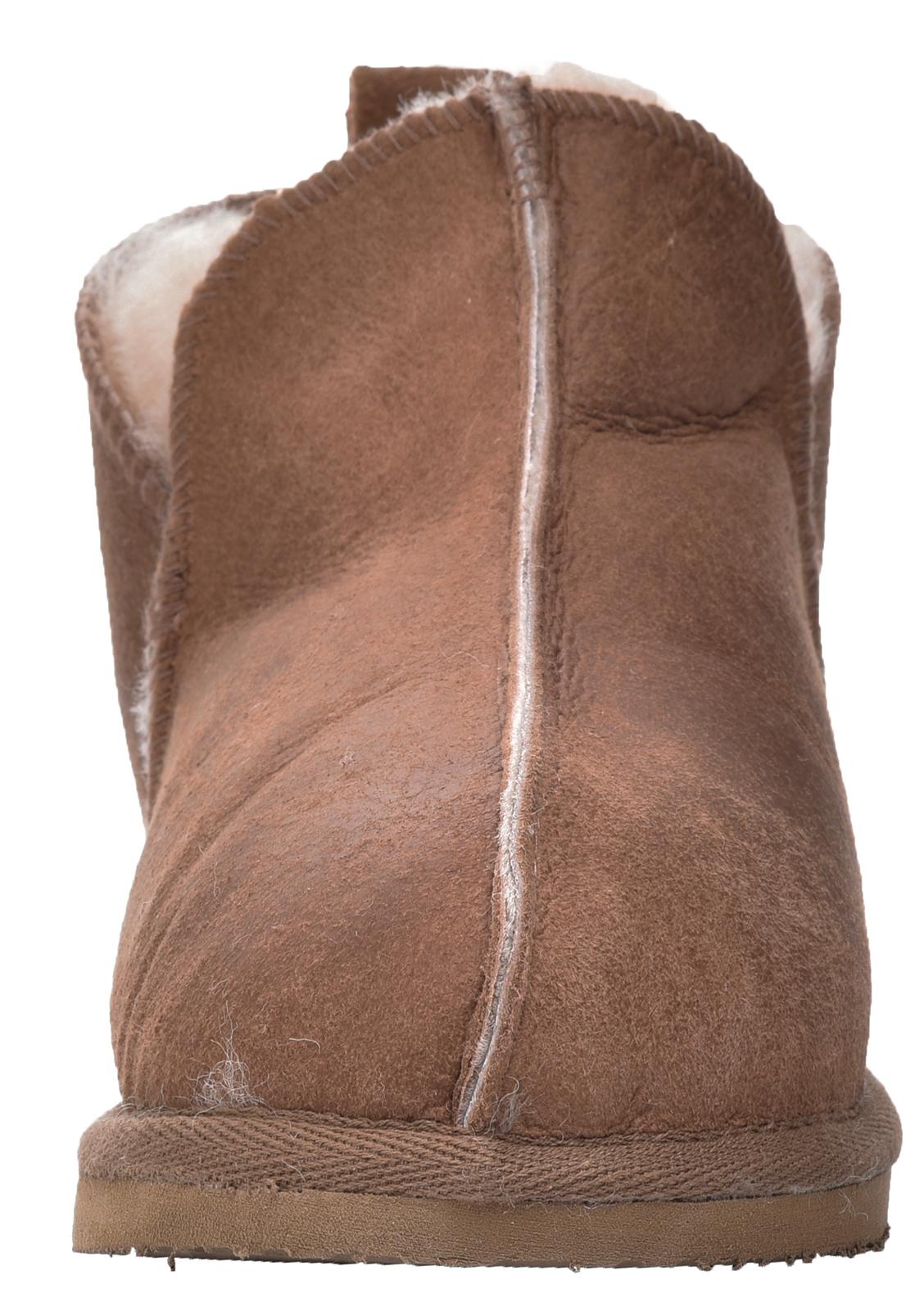 Sole Tan Hard Damer Soft Cognac Ekte Real Herre Slipper Sheepskin Boots Super zZ8xydP