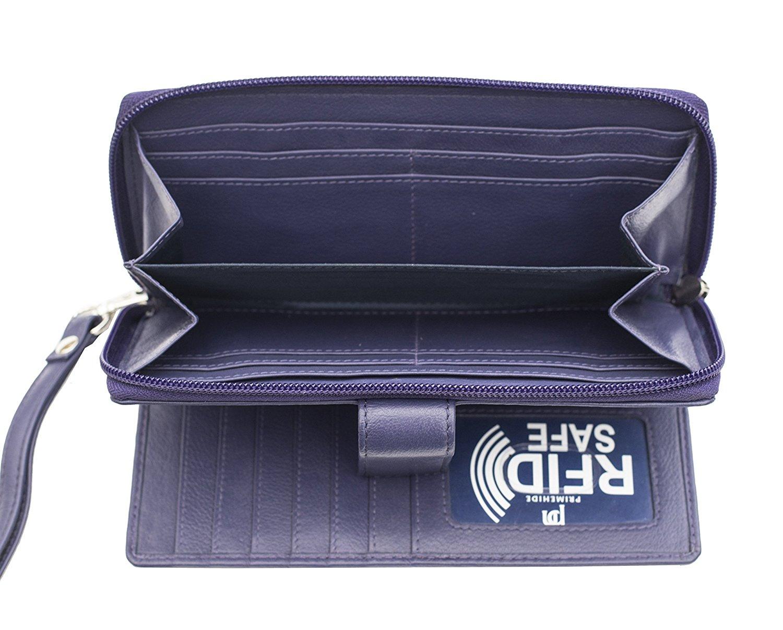 Femme-RFID-Bloquant-luxe-en-cuir-sac-a-main-Smart-Phone-Purse-Wallet miniature 7