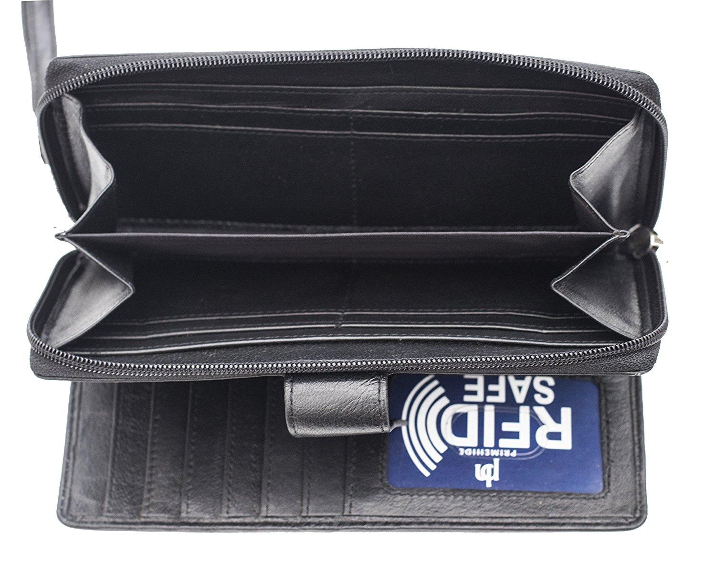 Femme-RFID-Bloquant-luxe-en-cuir-sac-a-main-Smart-Phone-Purse-Wallet miniature 4