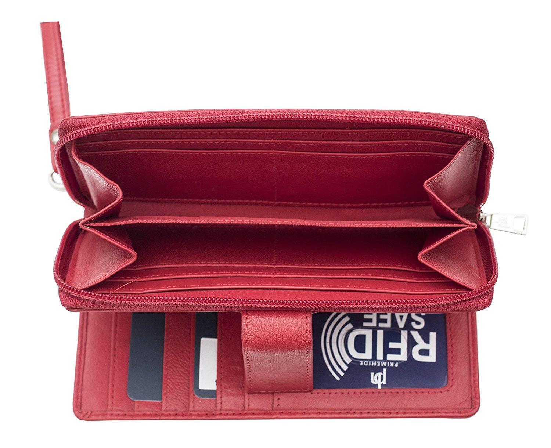 Femme-RFID-Bloquant-luxe-en-cuir-sac-a-main-Smart-Phone-Purse-Wallet miniature 13