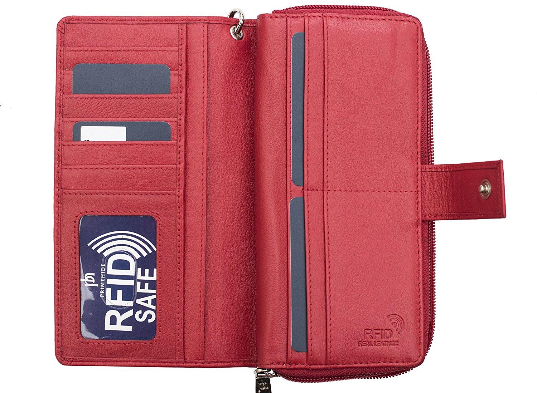Femme-RFID-Bloquant-luxe-en-cuir-sac-a-main-Smart-Phone-Purse-Wallet miniature 12
