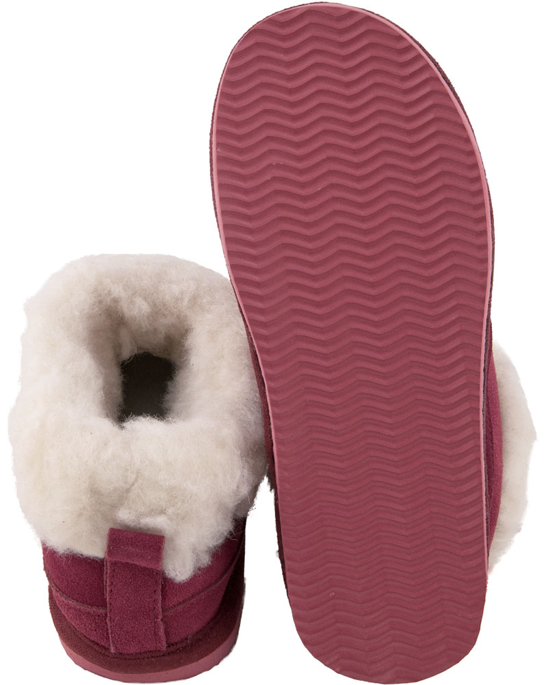 d7573632ddf4f Lambland Ladies Super Soft Genuine Lambswool Mix Bootee Slippers ...