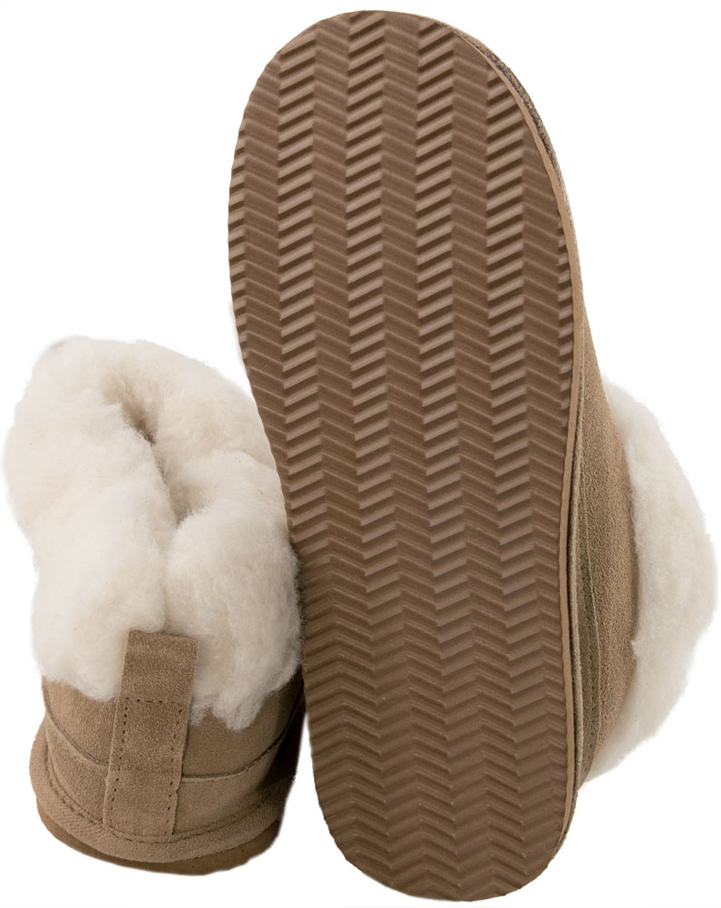 bc956929672e9 Lambland Ladies Super Soft Genuine Lambswool Mix Bootee Slippers ...