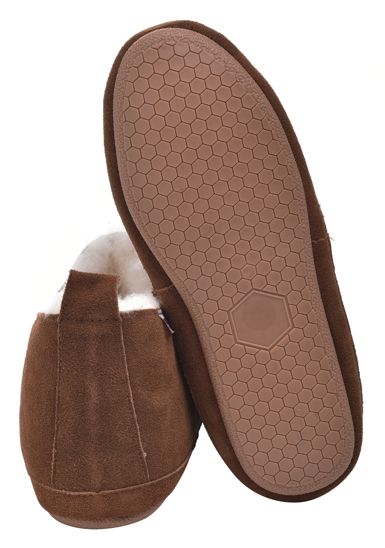 Lambland Mens High Quality Full Sheepskin Boot Slippers with Gum Rubber Sole