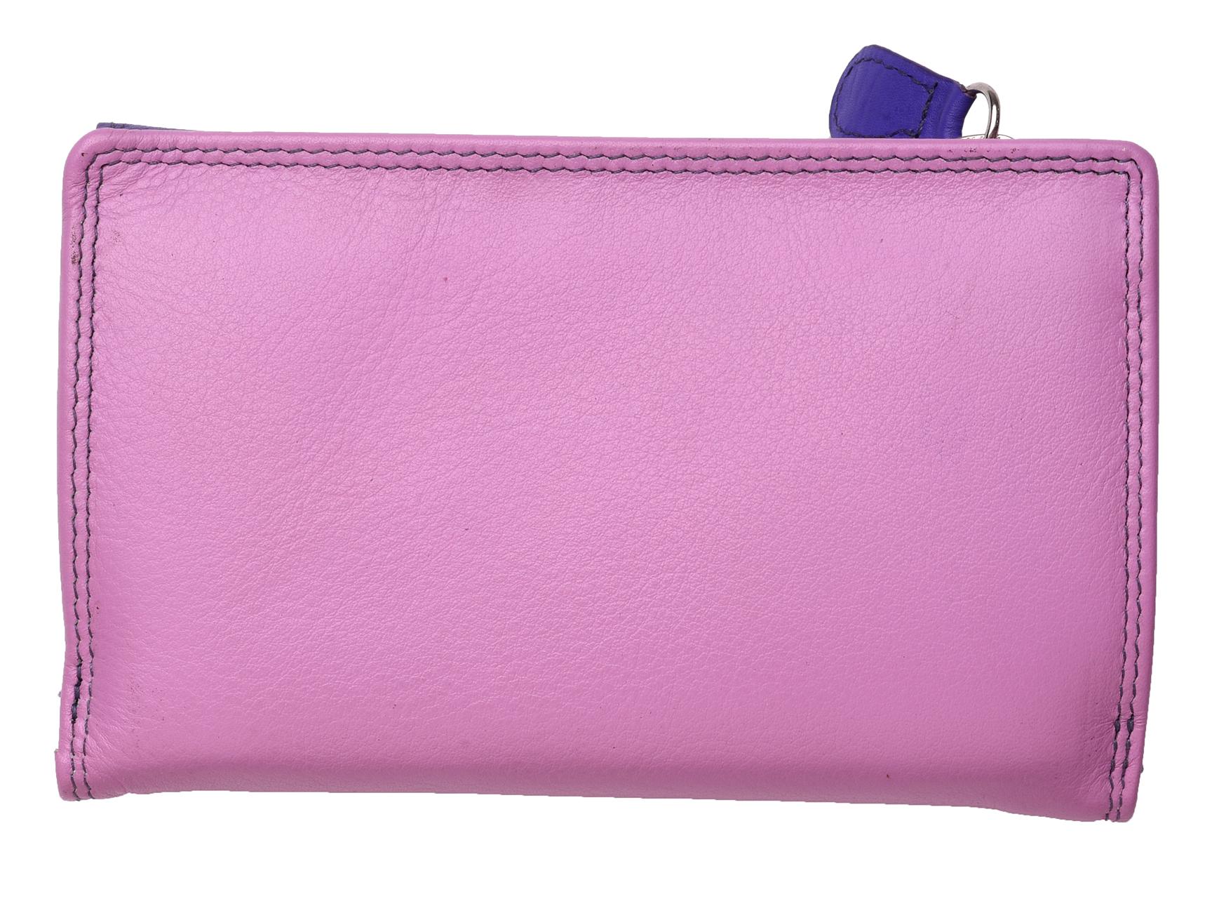 Mesdames-RFID-Bloquant-Super-Doux-Cuir-Veritable-Sac-a-Main-Portefeuille-Noir-Rose-Violet miniature 25