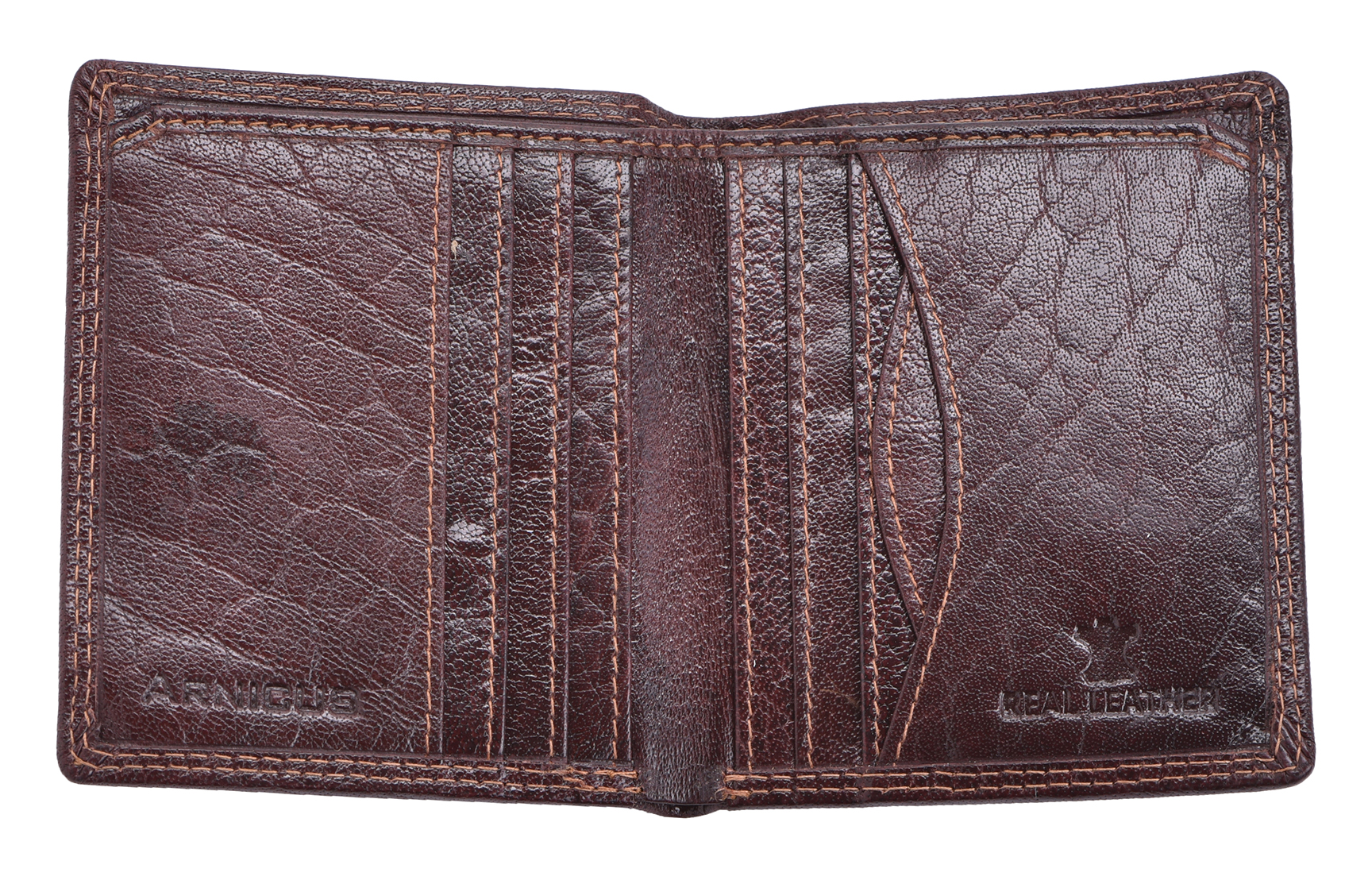 Mens-Gents-Luxe-Slim-RFID-Bloquant-Authentique-Portefeuille-Porte-monnaie-porte-carte-marron miniature 4