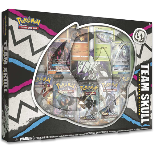 Brand New // Sealed Pokemon TCG Team Skull Pin Collection