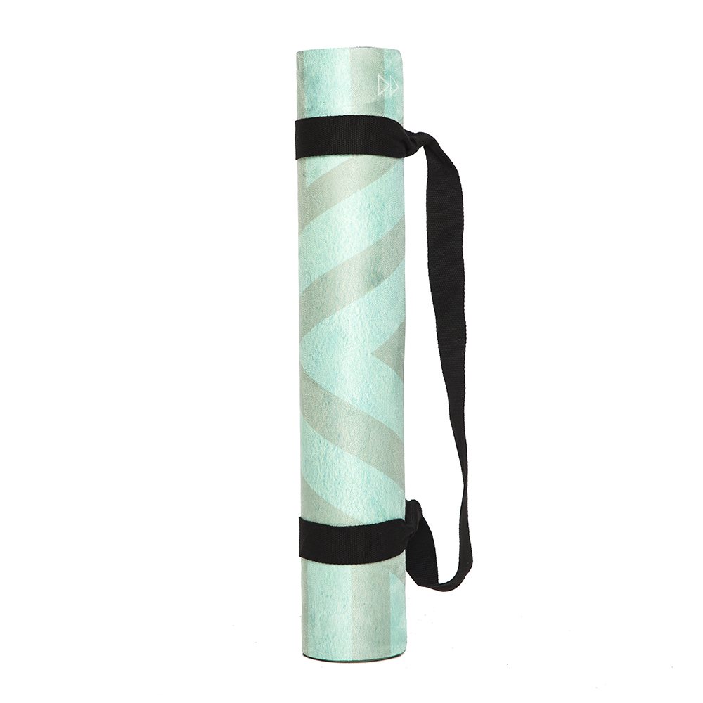 The Combo Yoga Mat 1 5mm Luxurious Non Slip Foldable: Yoga Design Lab Commuter Eco Friendly Micro Fiber Surface