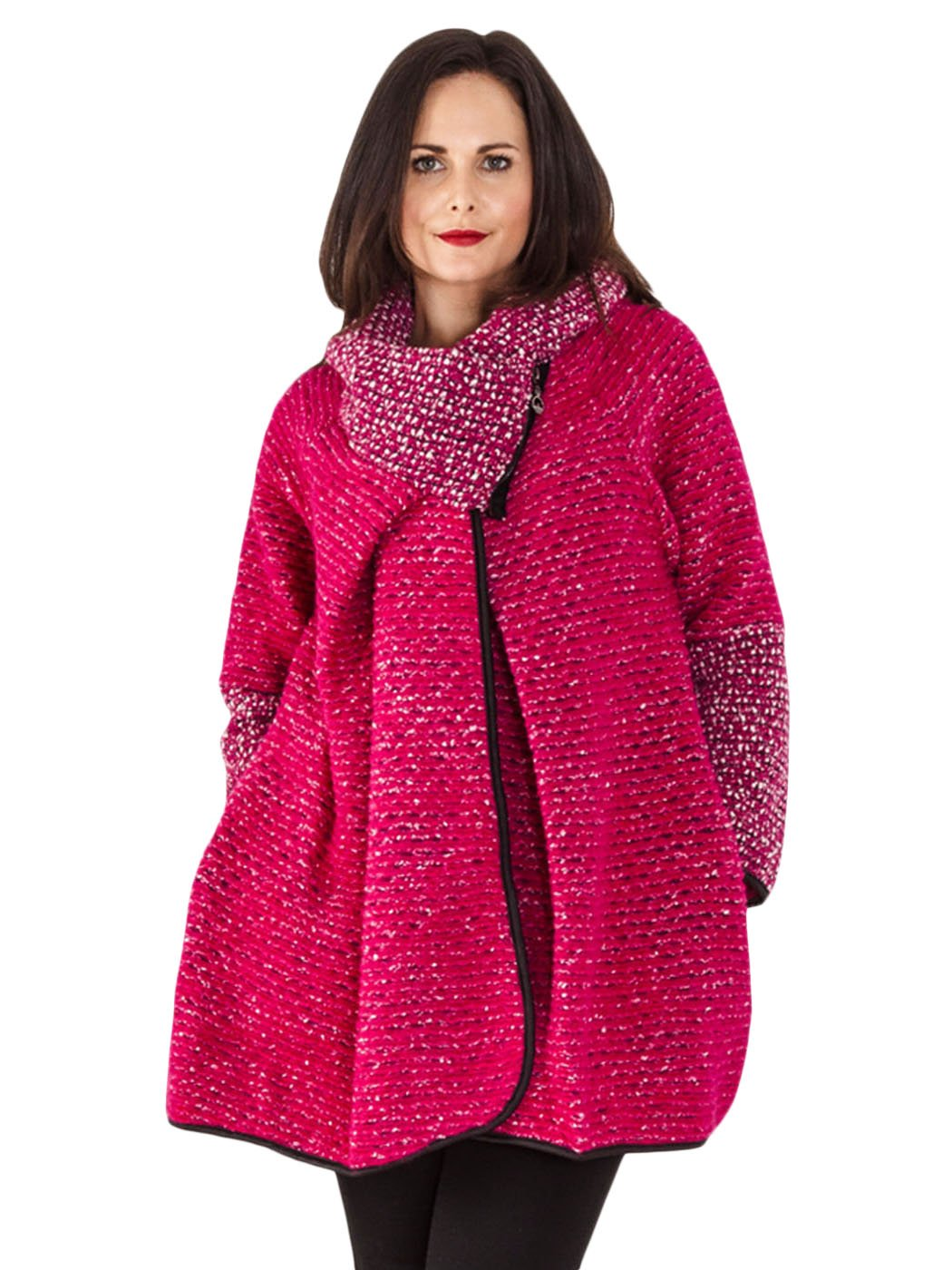 Citaten Winter Xl : Womens italian cocoon wool knitted quirky lagenlook coat