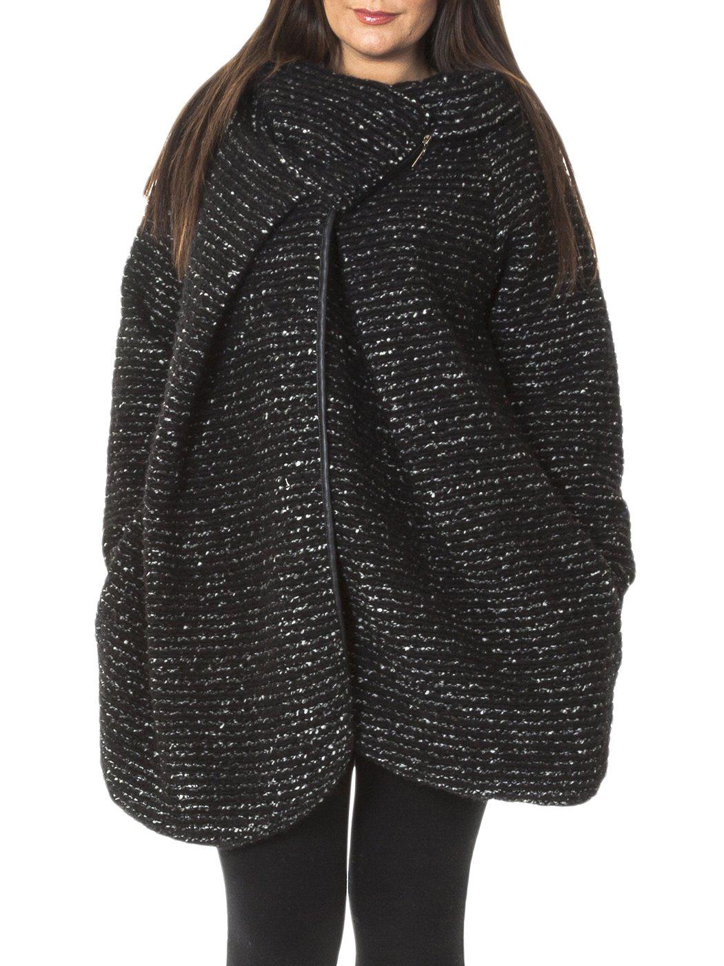 Citaten Winter Xl : Womens italian cocoon wool knitted quirky lagenlook coat
