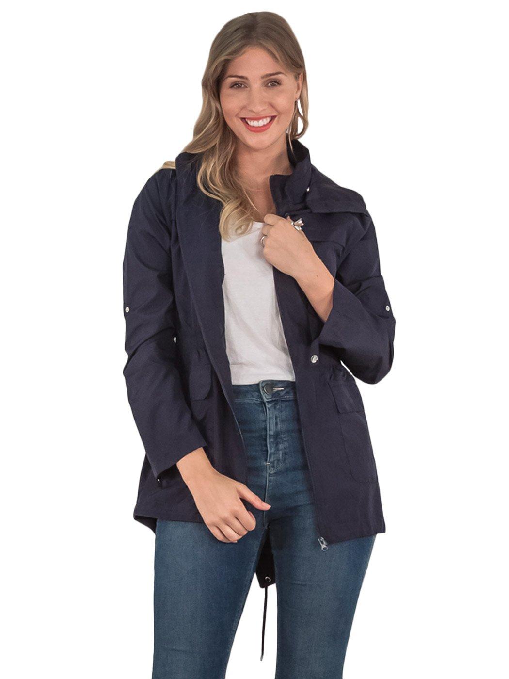 womens rain coat plain hooded raincoat ladies jacket girls raincoat kagool parka ebay. Black Bedroom Furniture Sets. Home Design Ideas