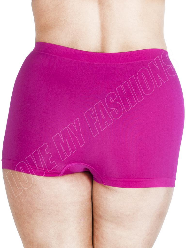 Summer Women High Waist Boxer Shorts Pants Ladies Underwear Plus Size 16-22