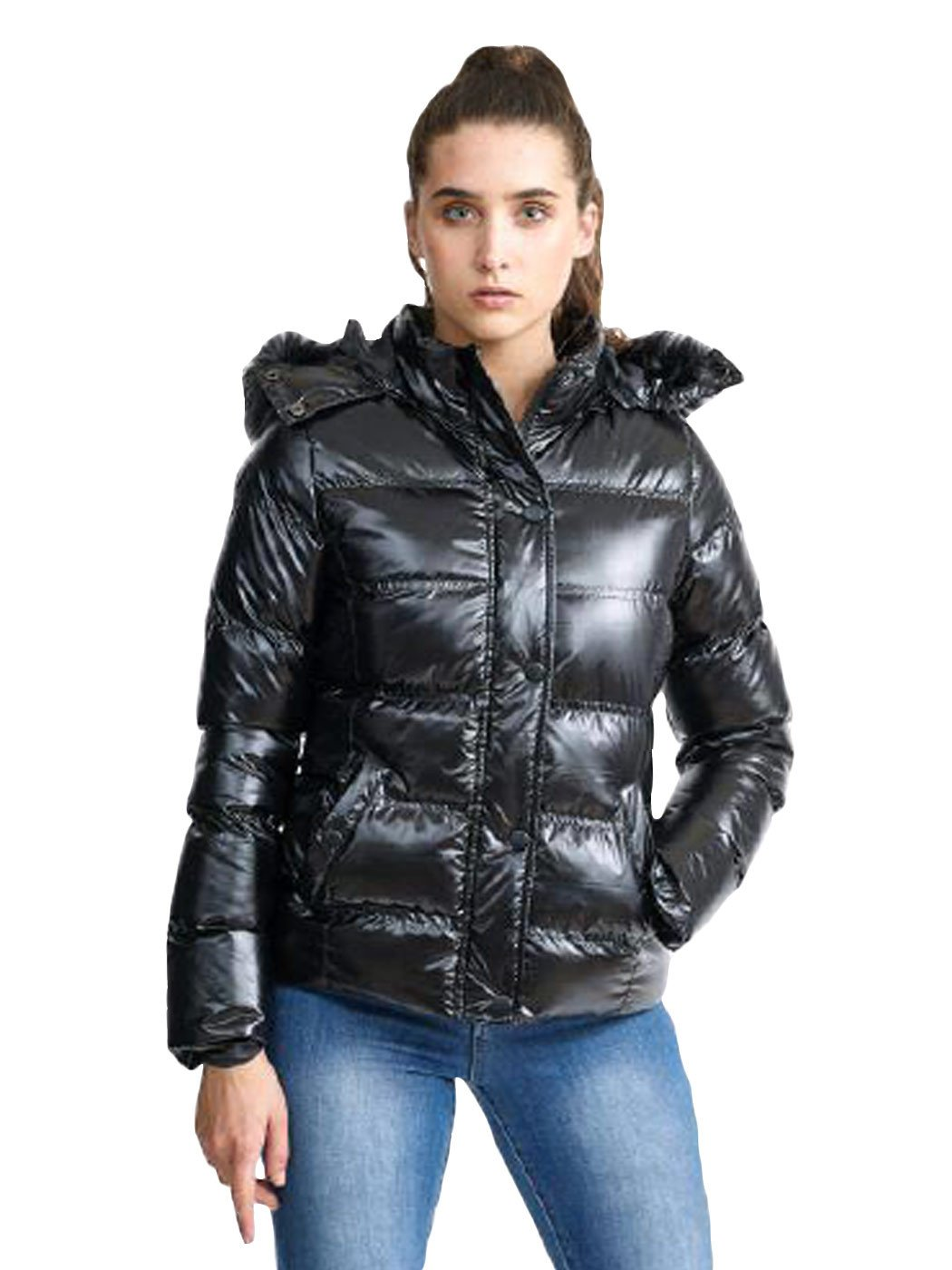 Details about New Ladies Brave Soul Womens Padded Winter Jacket High Shine Coat