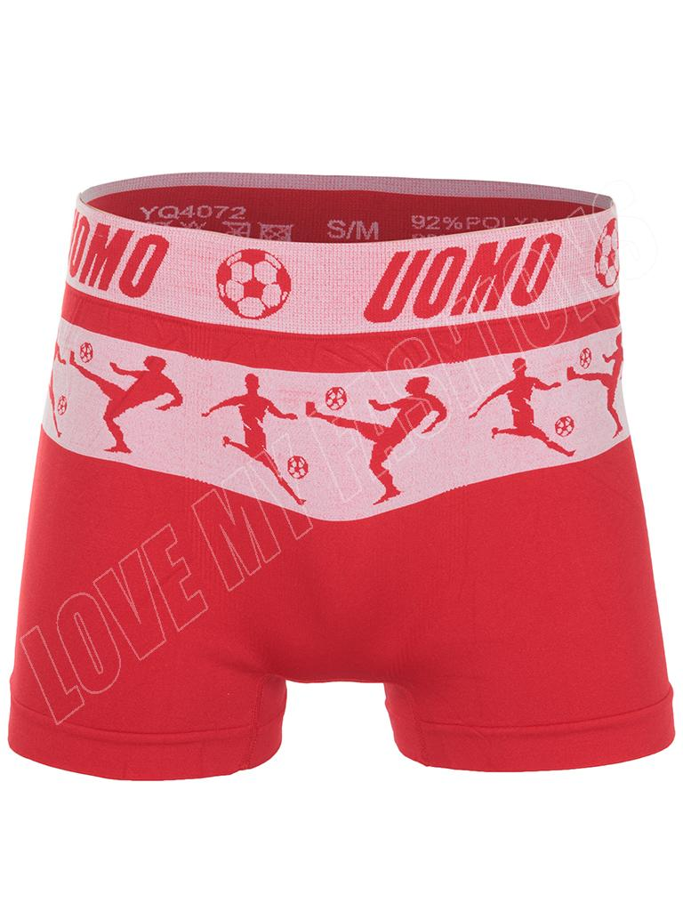 Mens Footballer Print Seamless Boxer Shorts Trunks Underwear Size S M L XL XXL
