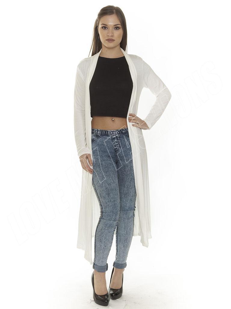 New Ladies Women Long Sleeve Length Boyfriend Maxi Cardigan Size ...