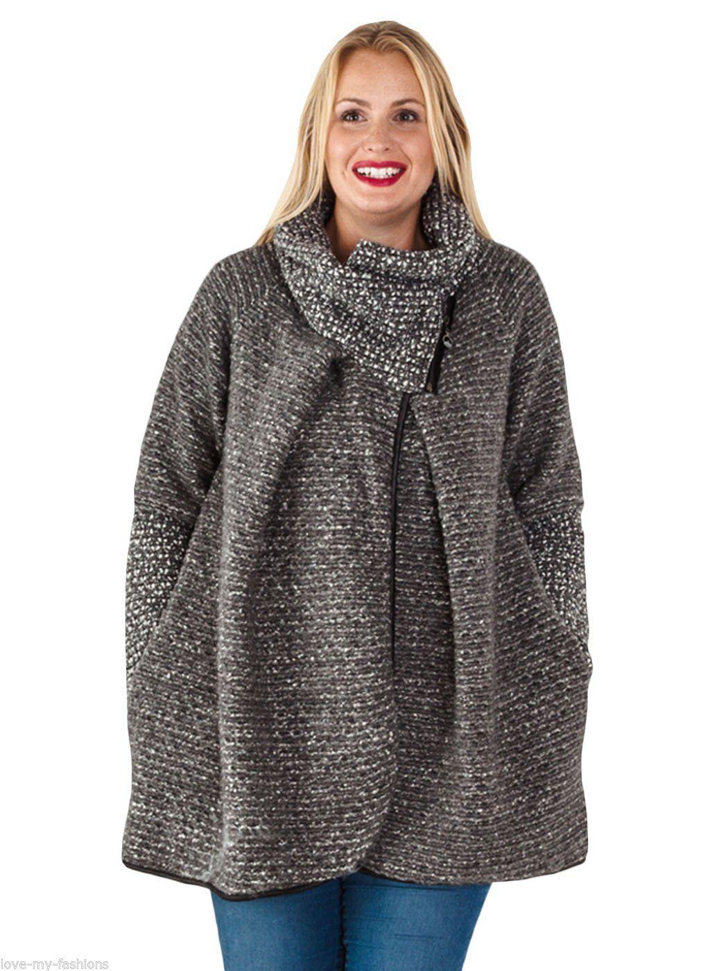 Womens plus size wool coat