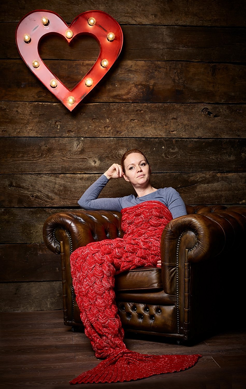 Adult-Handmade-Knitted-Mermaid-Kids-Fish-Tail-Blanket-Crochet-Cocoon-Sofa-Quilt thumbnail 3