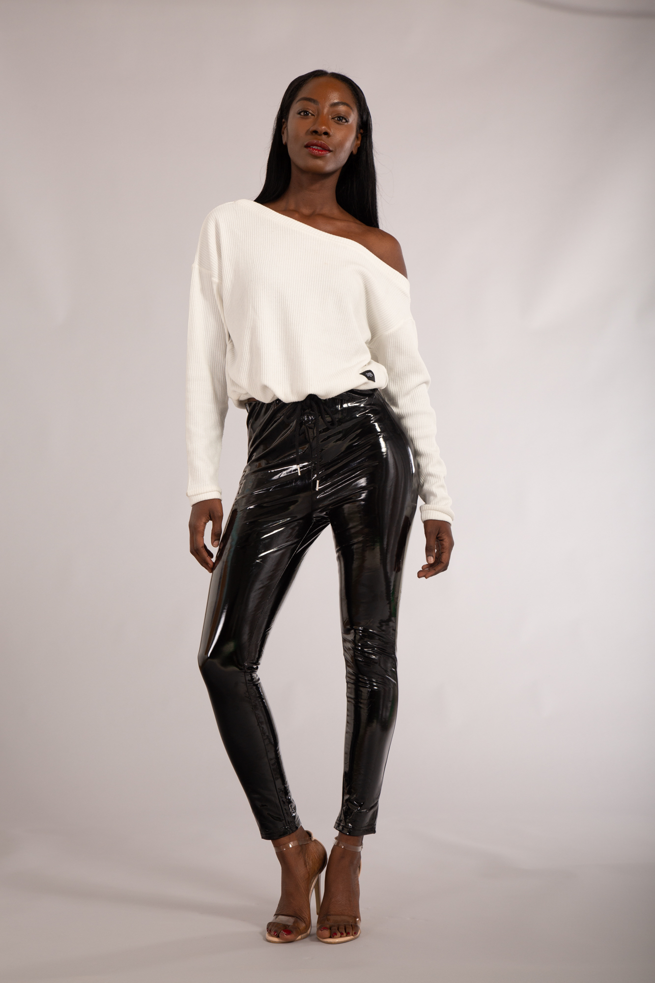 NUOVO Donna Moda Donna Stile Americano Pantaloni Da Discoteca Lucidi Taglia 6 8 10 12 14