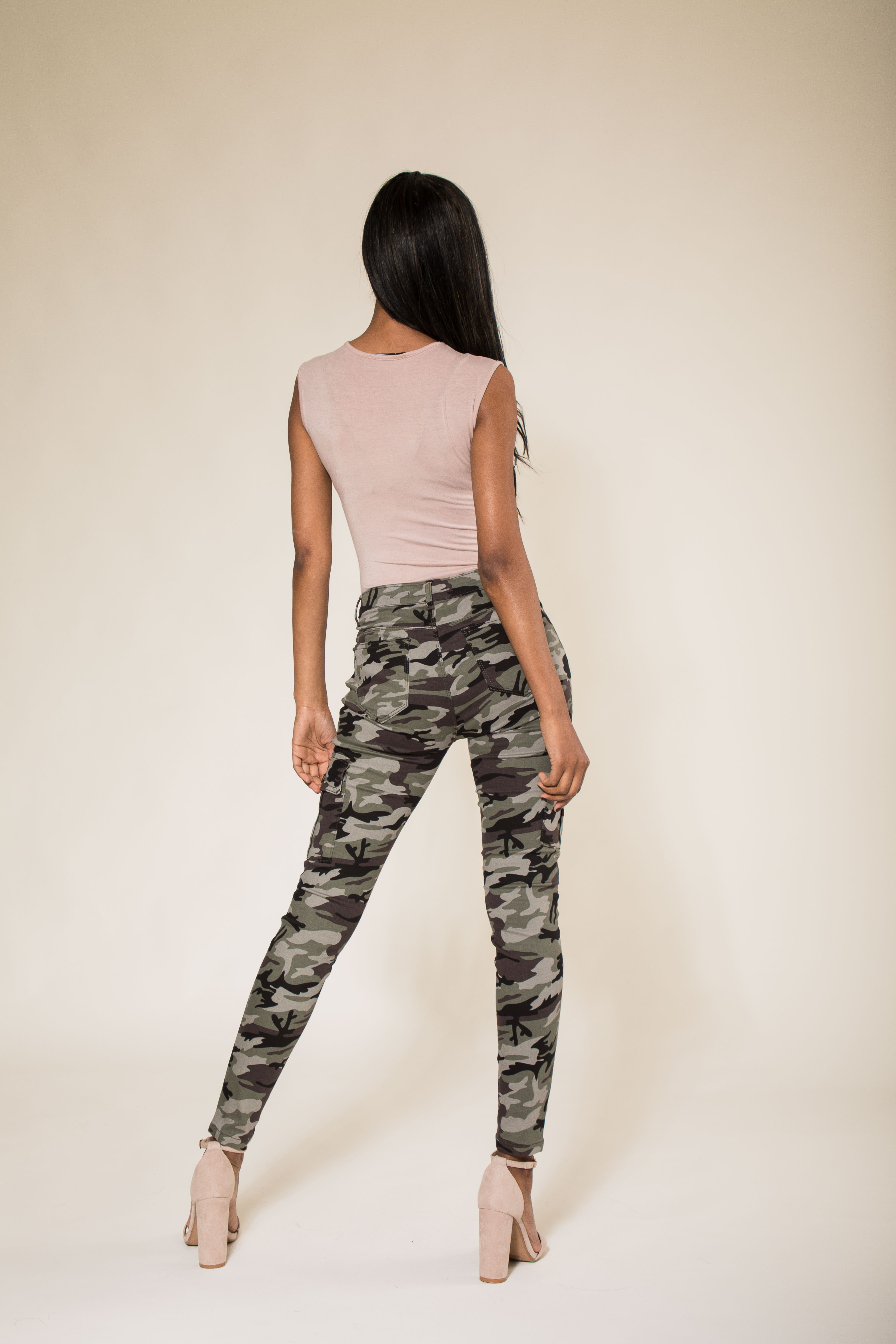 8800706a03b25 Womens Army Camo Pants Ladies Camouflage Casual Stretchy Skinny Jeans Size 6 -14
