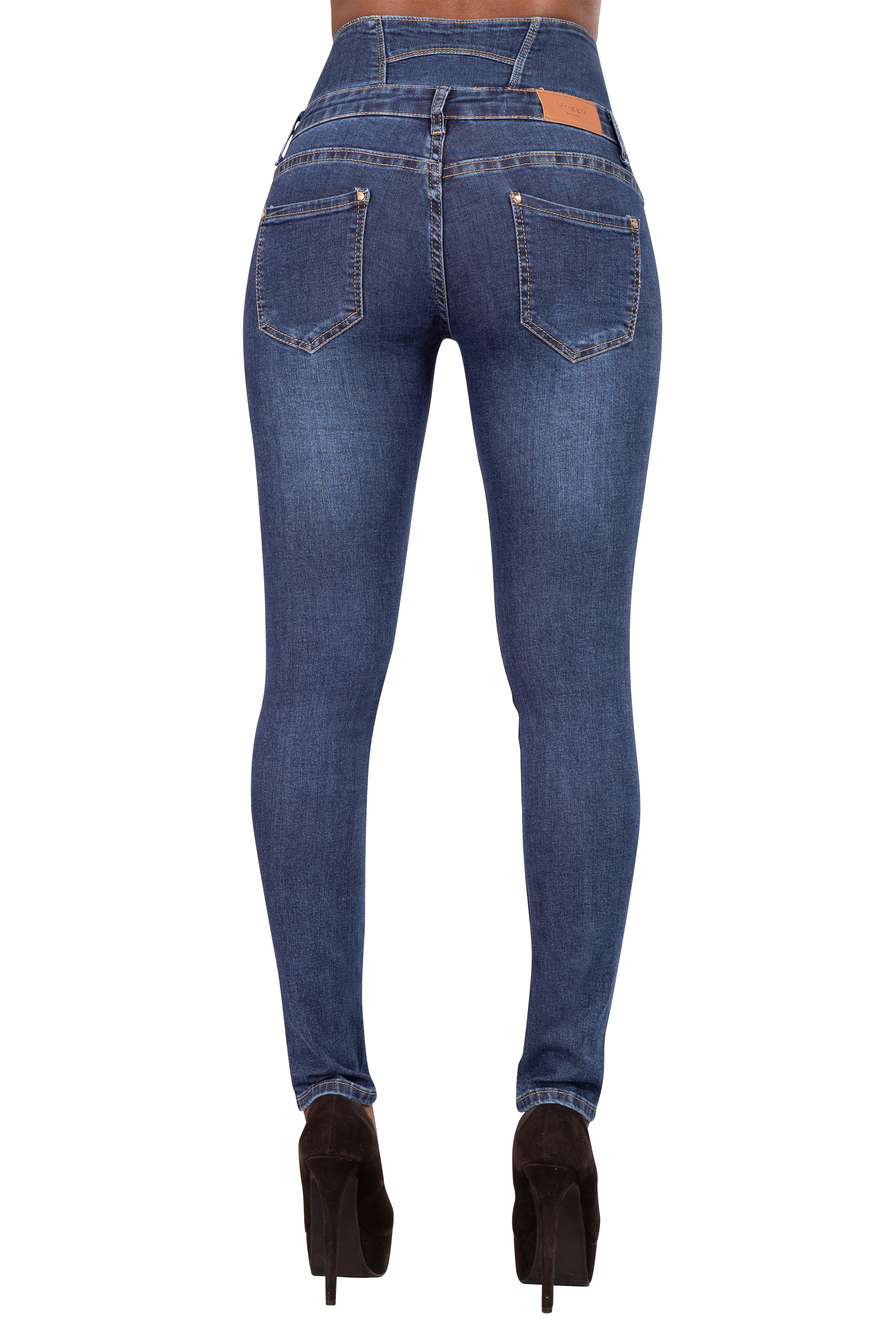 WOMENS HIGH WAISTED STRETCHY SKINNY JEANS LADIES JEGGINGS PANTs 8 10 12 14 16