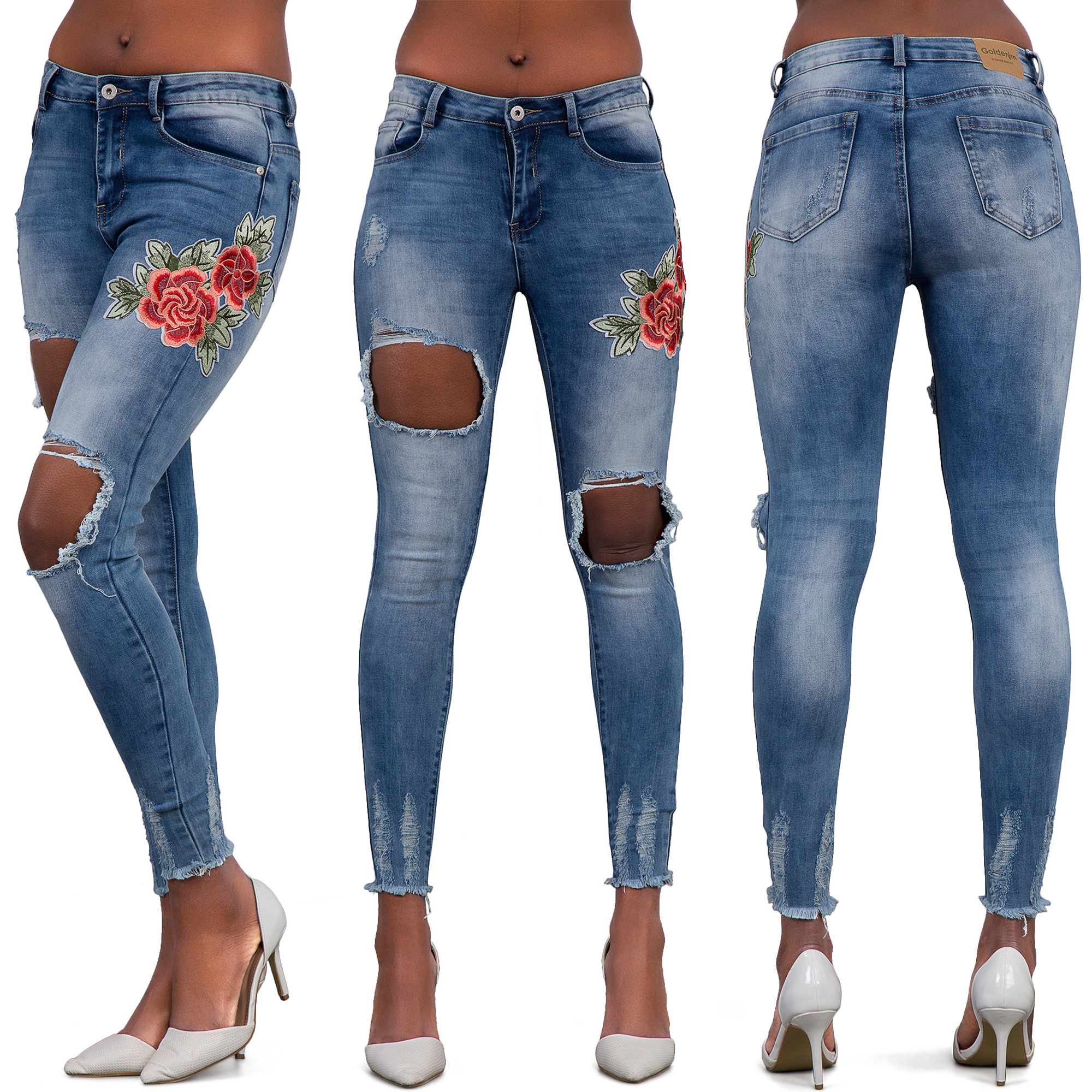 how to fix faded knees on jeans