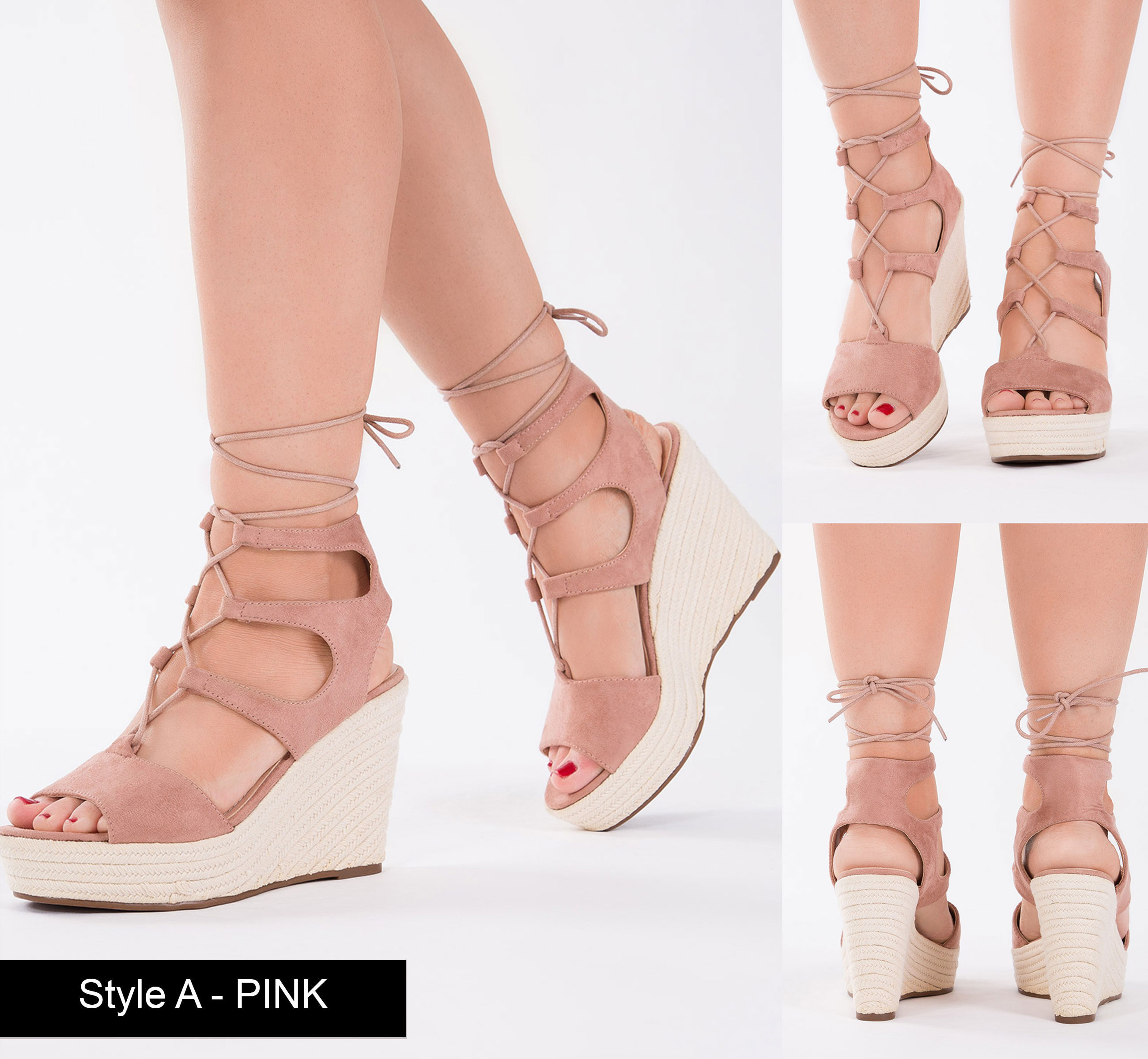 WOMENS-PLATFORM-WEDGES-LADIES-STRAPPY-HEEL-ANKLE-STRAP-LACE-UP-SANDAL-SIZE-3-8