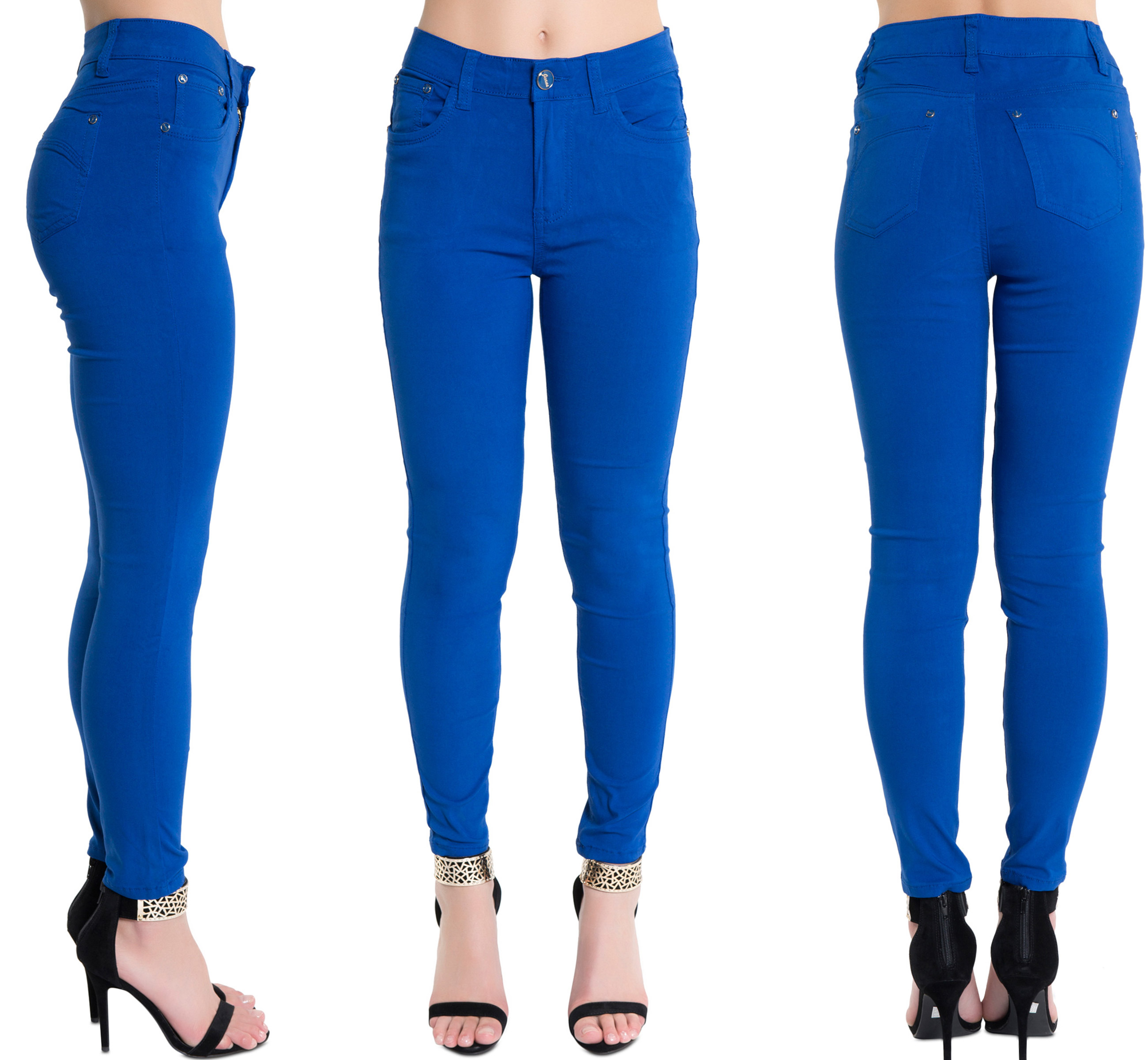 Ladies high rise skinny jeans