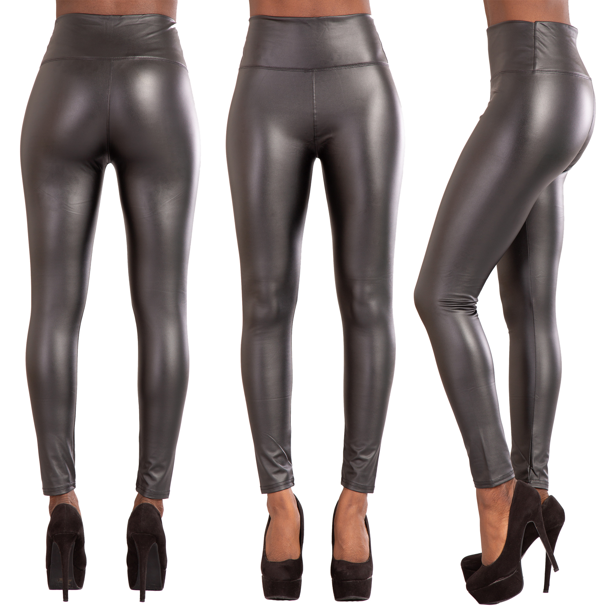 best loved buy hot-selling Details about Women High Waist Leather Look Leggings Trousers Ladies  Stretch Skinny Pants