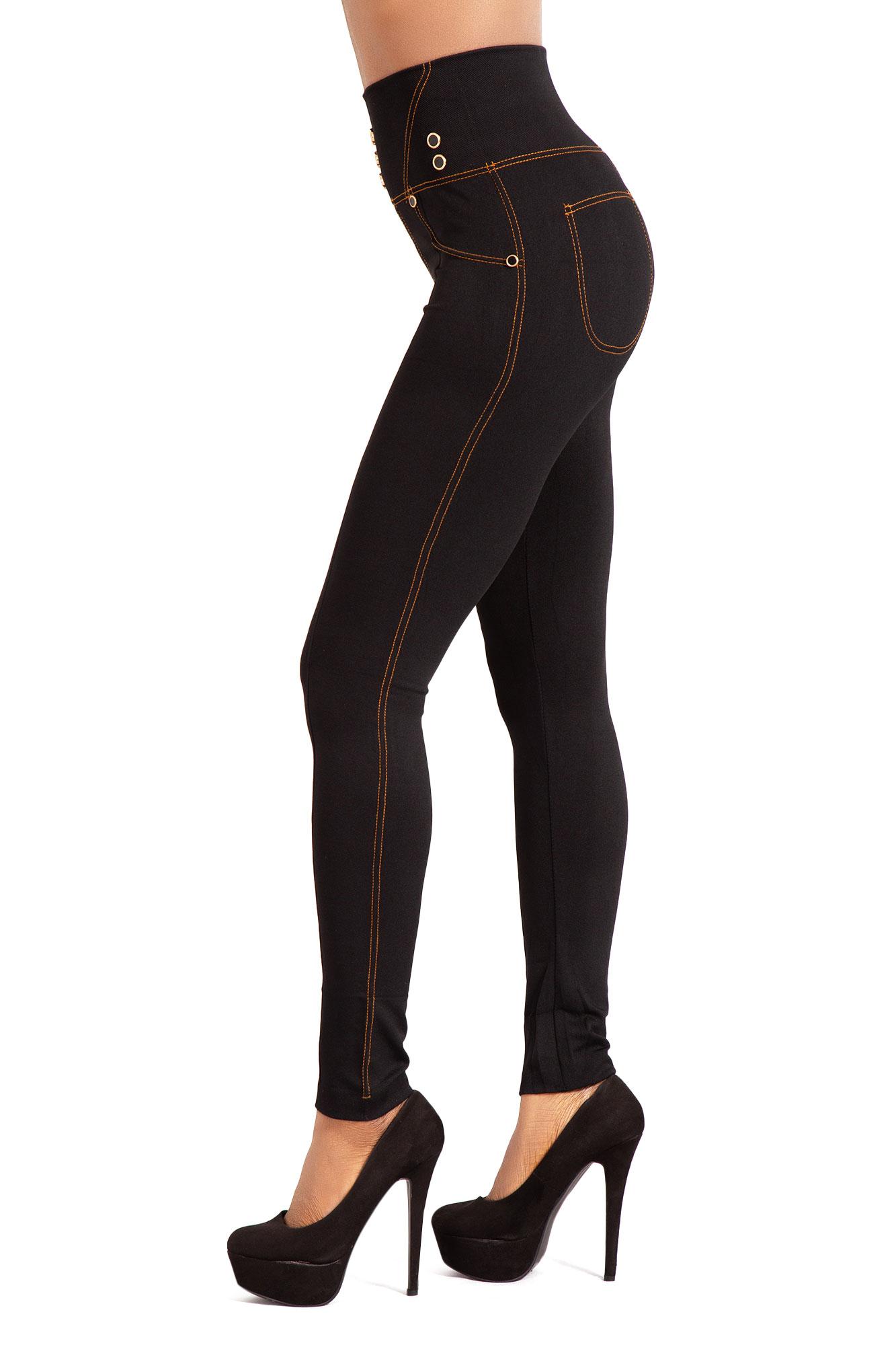 Women-High-Waist-Black-Leggings-Ladies-Print-Jeggings-Style-Trousers thumbnail 13