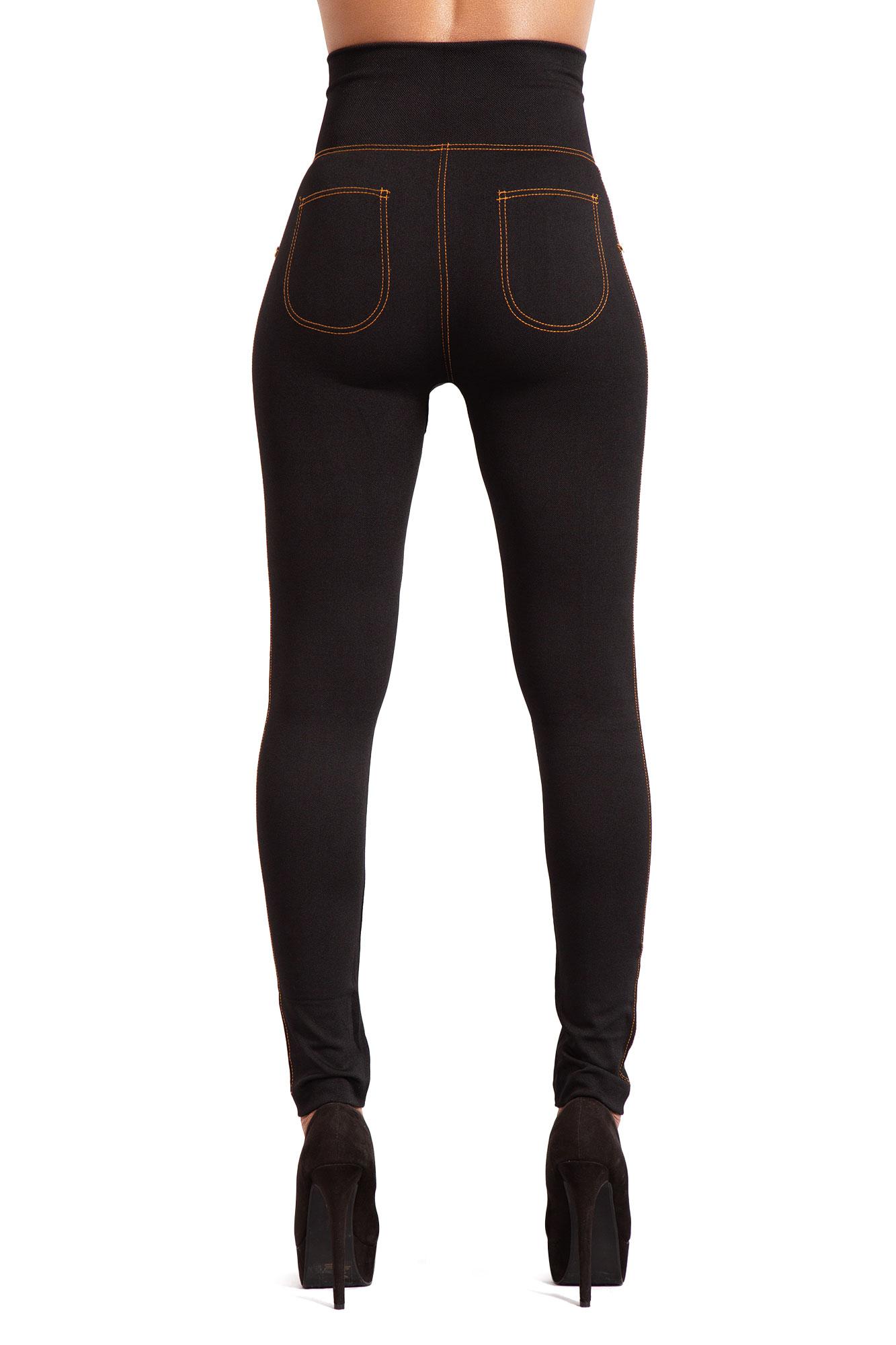 Women-High-Waist-Black-Leggings-Ladies-Print-Jeggings-Style-Trousers thumbnail 14