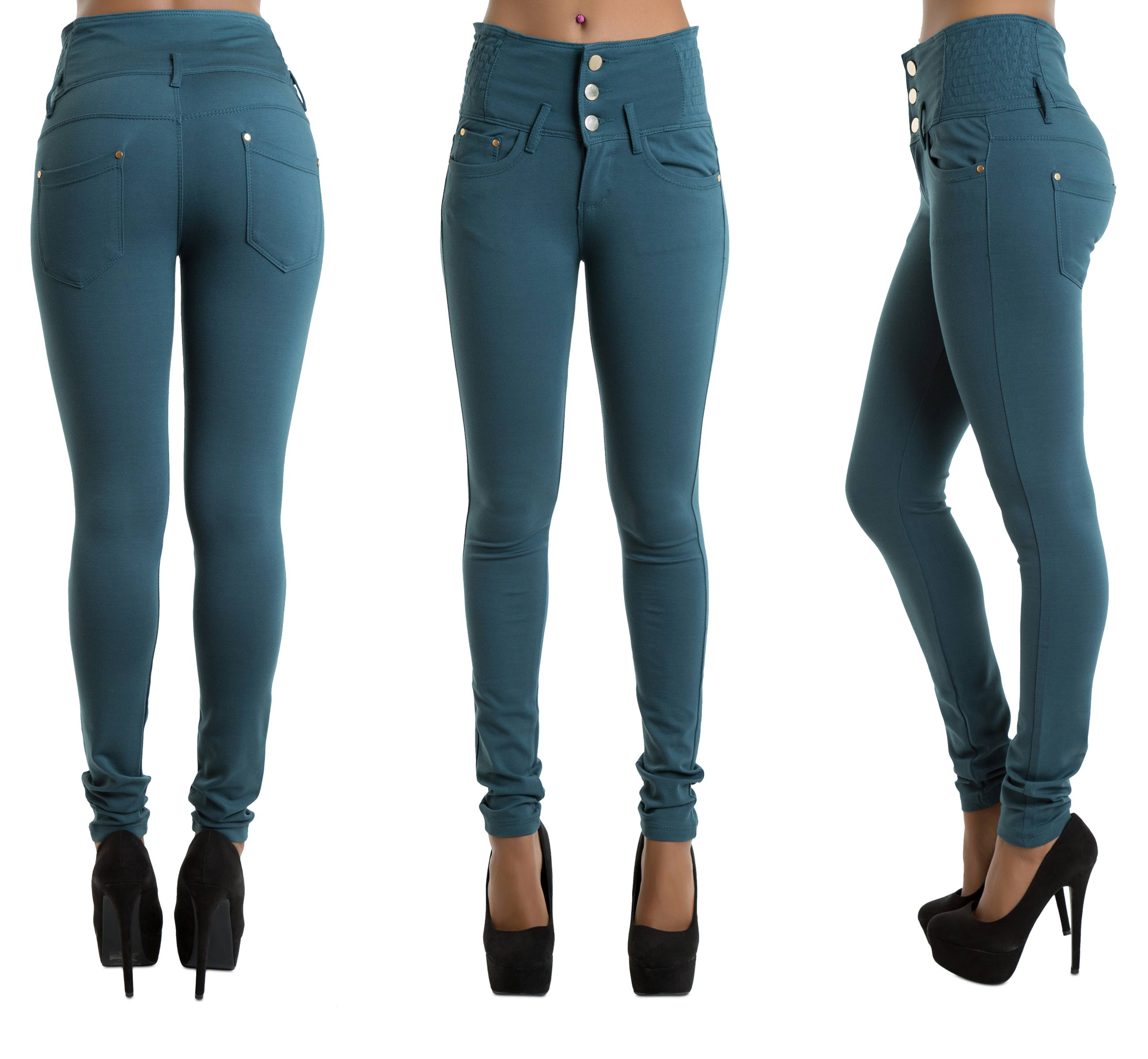 High Waisted Cropped Jeans. Slip into comfy vintage-chic with a pair of high-waist jeans. Jeans are a timeless fashion statement that can be dressed up or down with different tops, shoes and accessories. Jeans in neutral tones such as denim blue, gray and black look equally stylish when worn with any other color and complement all skin tones well.