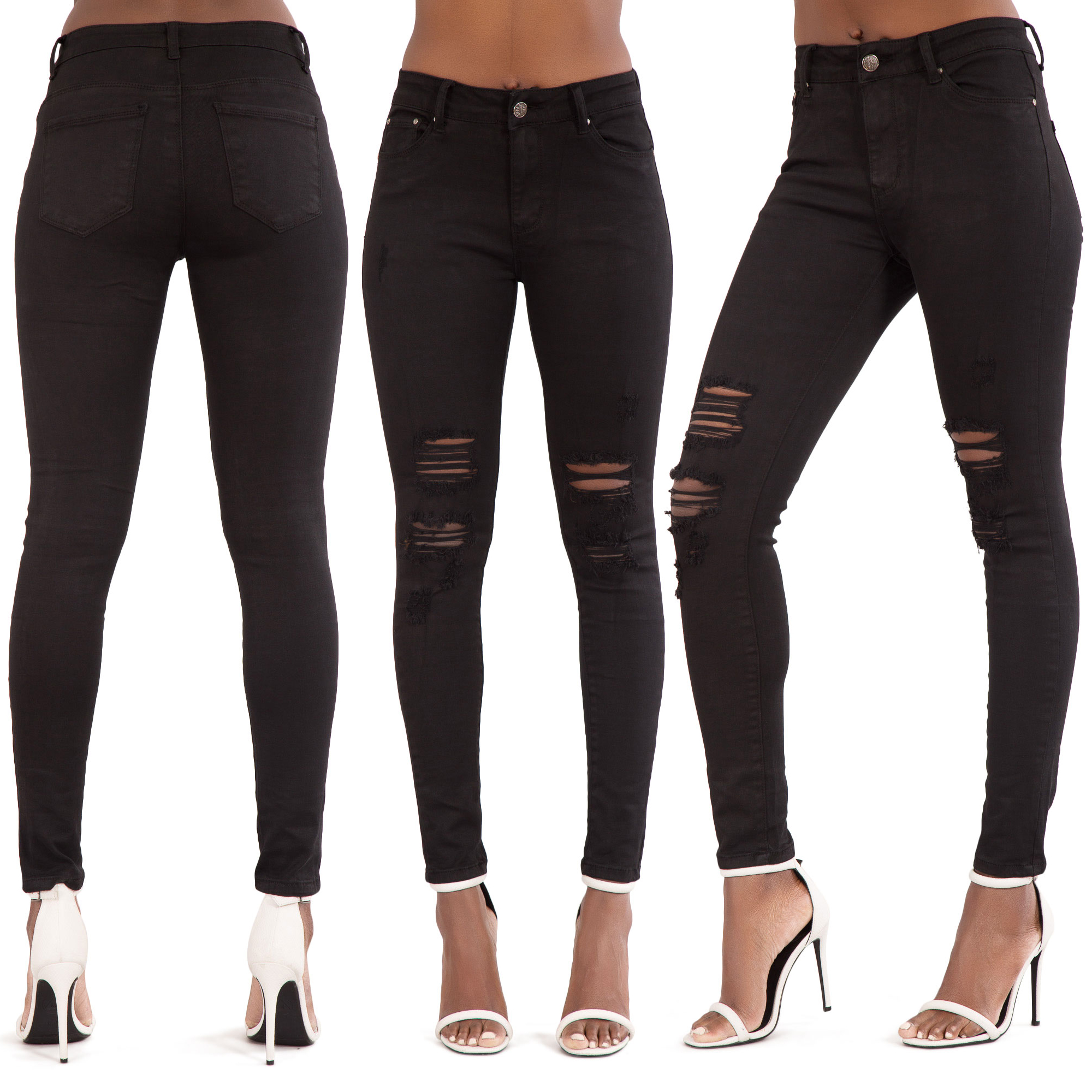 Womens-Ripped-Knee-Skinny-Jeans-Faded-Slim-Fit-Ladies-Denim-Size-6-8-10-12-14-16