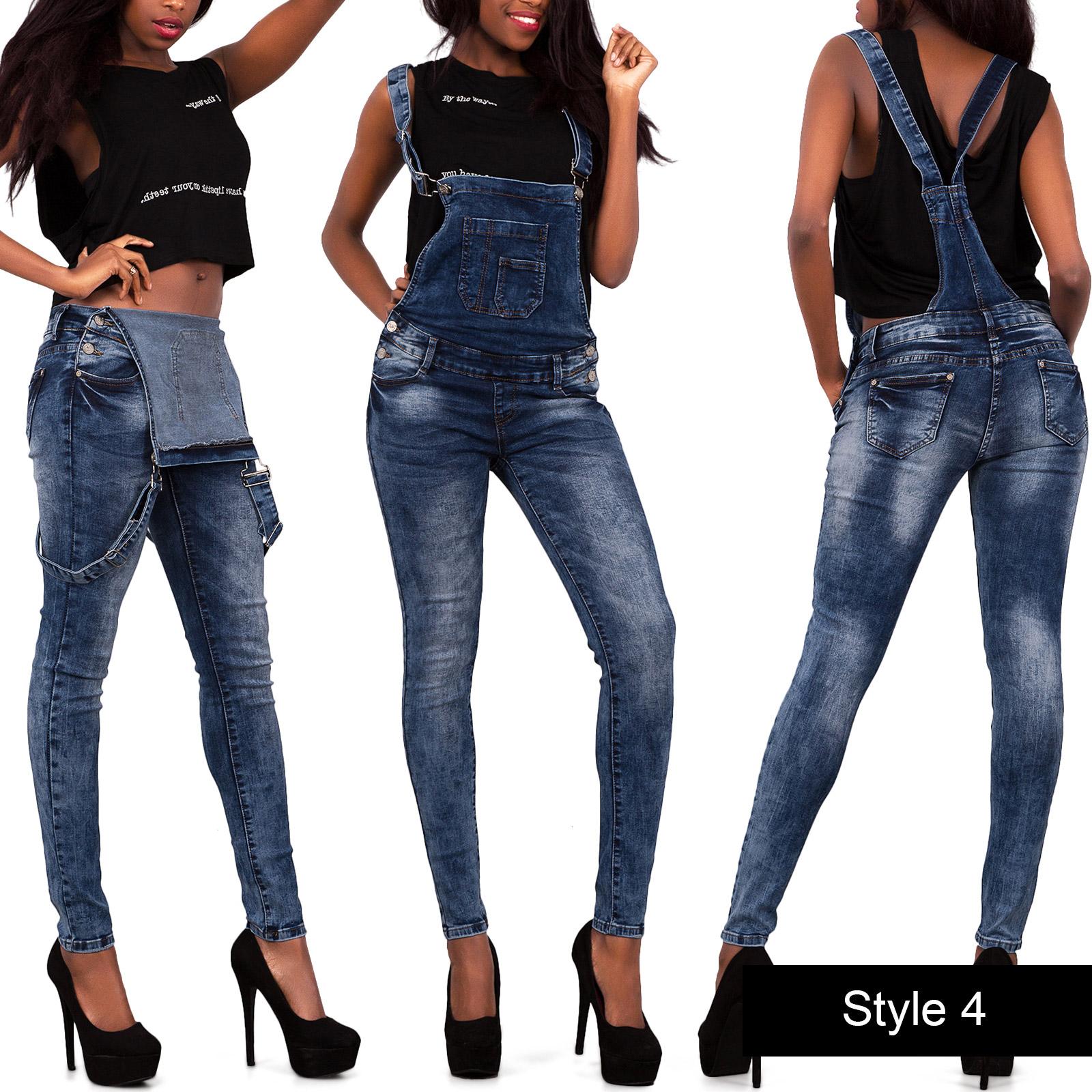 sexy damen tarnfarbe armee overall denim catsuit enge jeans gr e 6 14 ebay. Black Bedroom Furniture Sets. Home Design Ideas