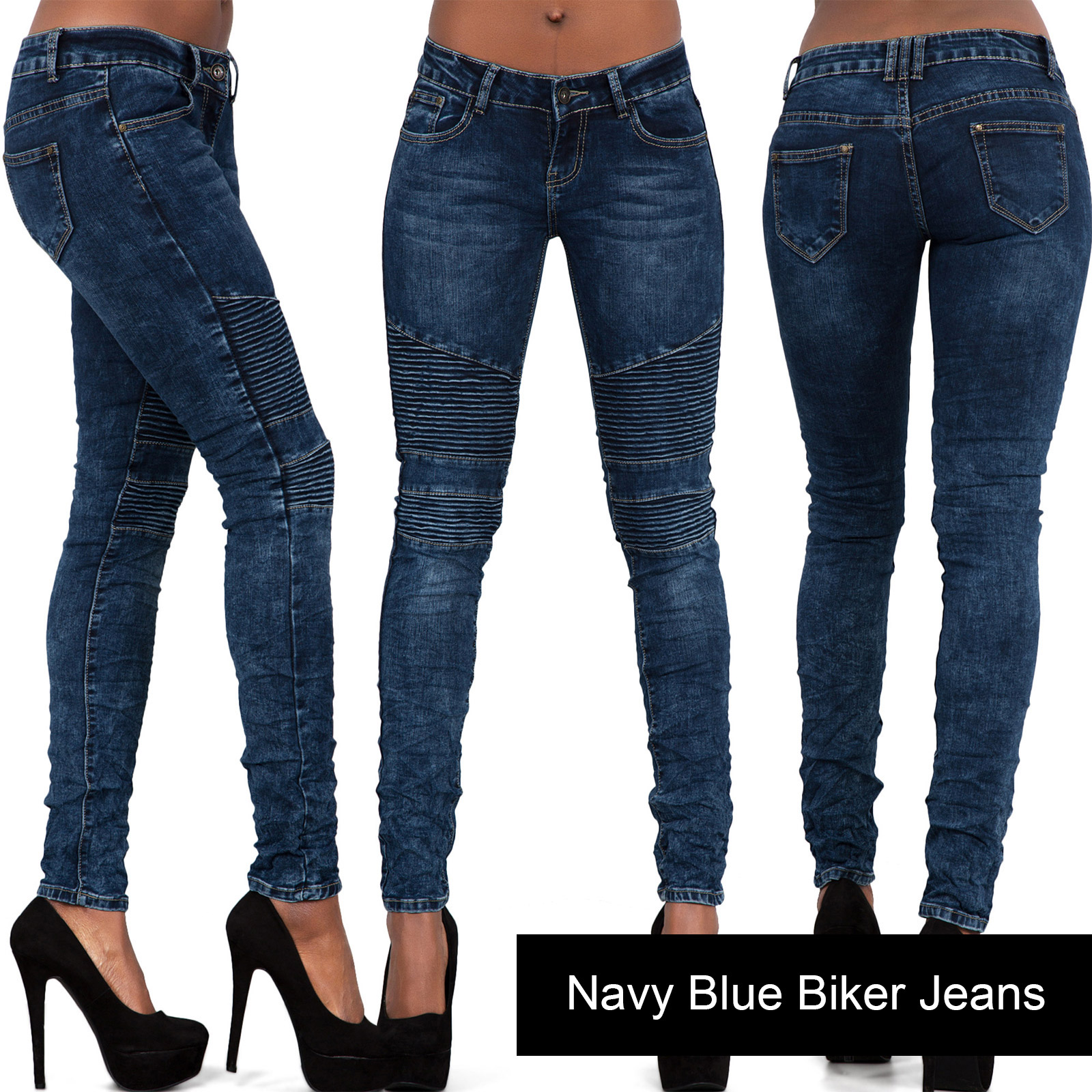 Ladies-Women-Acid-Wash-Blue-Grey-Skinny-Jeans-Stretch-Trouser-Size-6-8-10-12-14