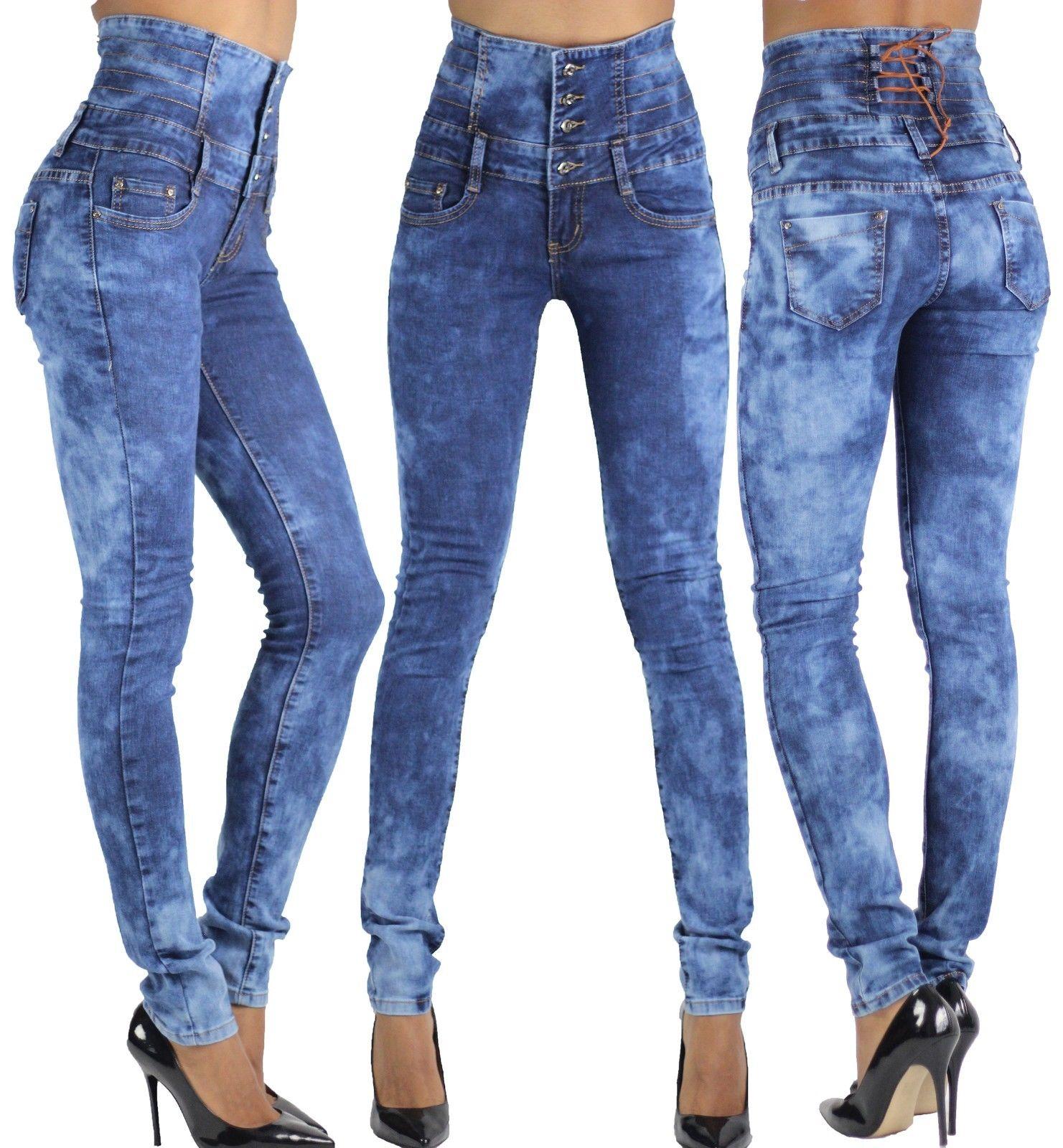 SALE-WOMEN-039-S-HIGH-WAIST-JEANS-Ladies-Stretch-Denim-Skinny-Slim-Pants-SIZE-6-16
