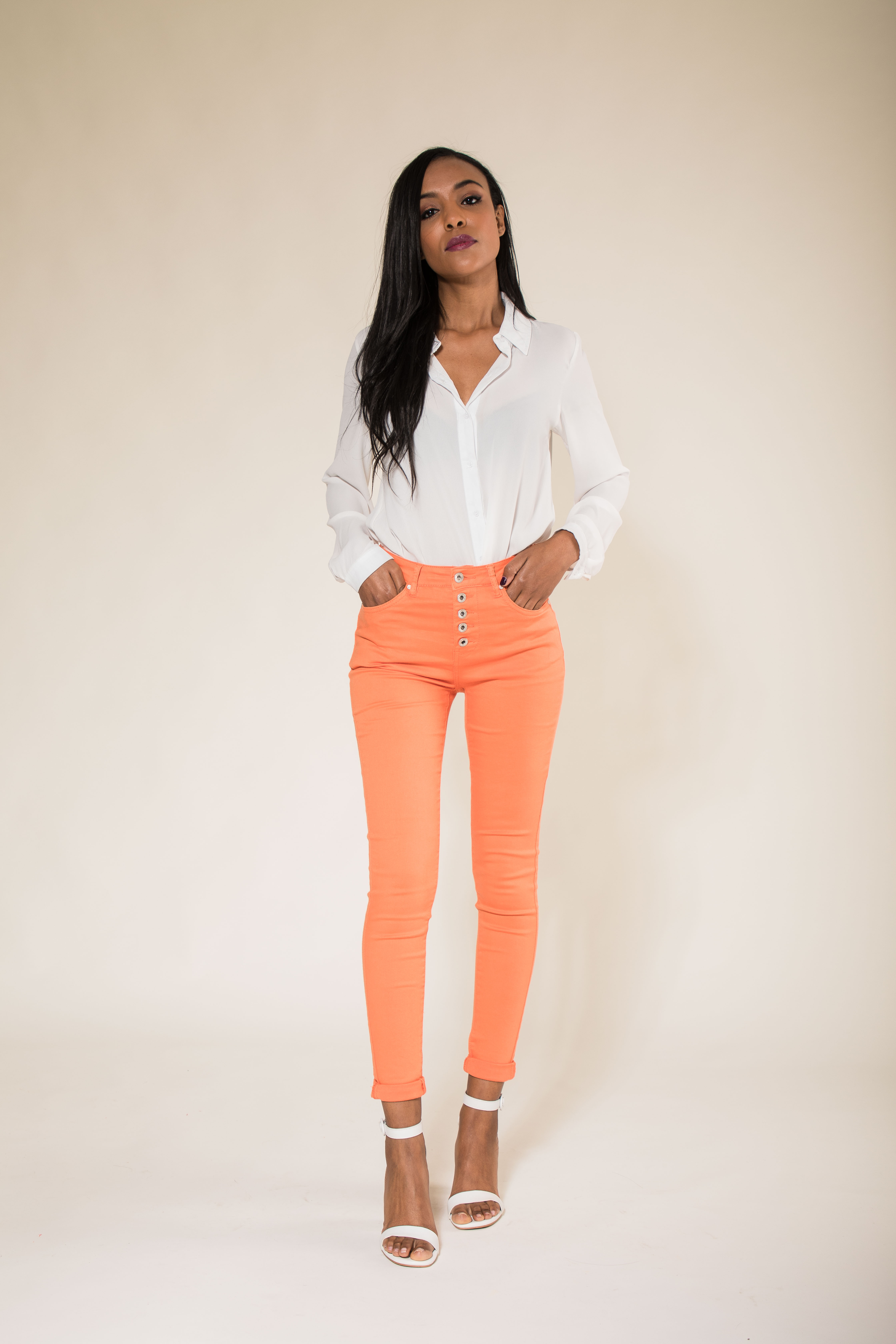Women-High-Waisted-Jeans-Ladies-Coloured-Stretchy-jeggings-Pants-Size-6-14 thumbnail 28