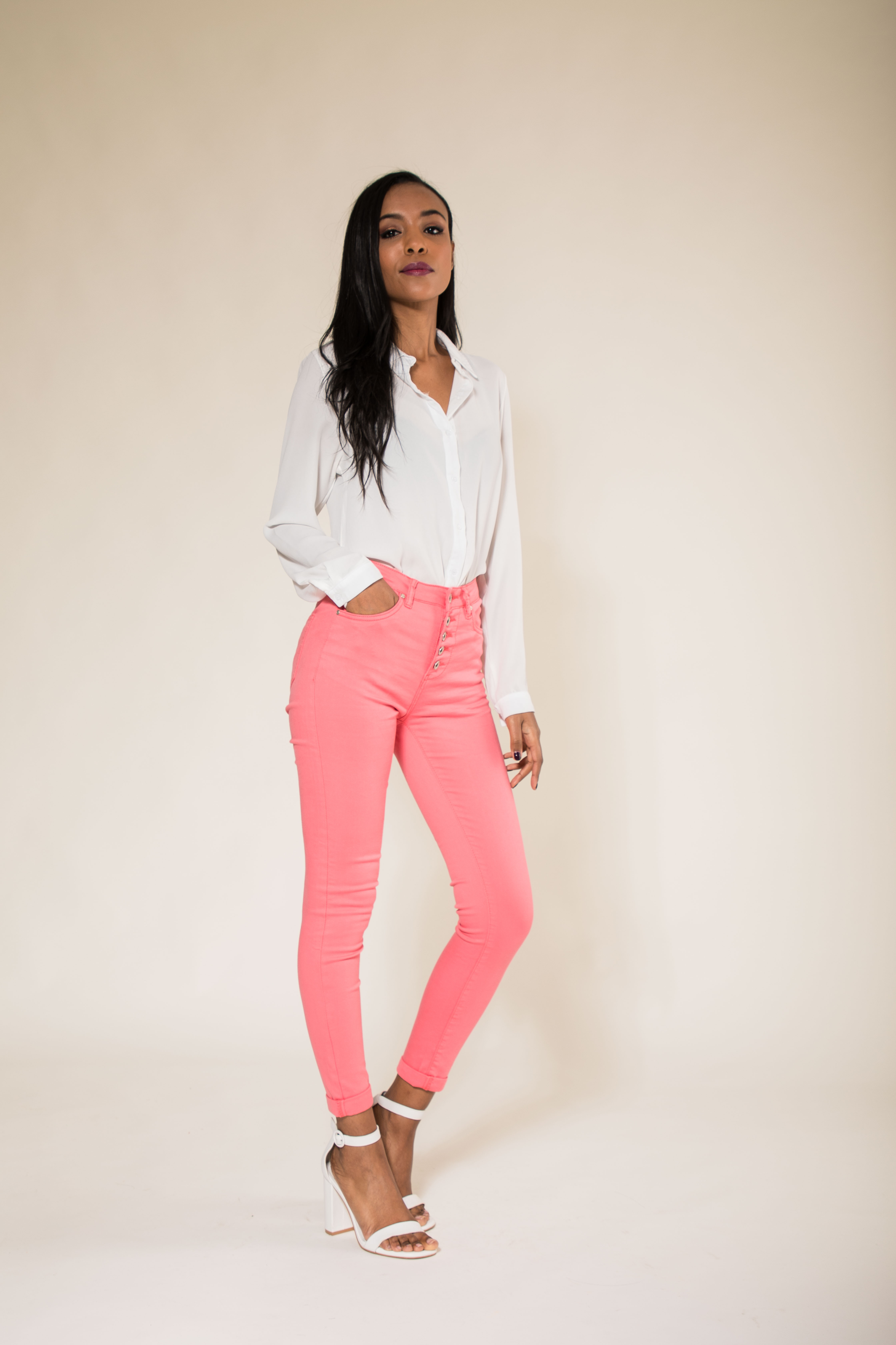 Women-High-Waisted-Jeans-Ladies-Coloured-Stretchy-jeggings-Pants-Size-6-14 thumbnail 26