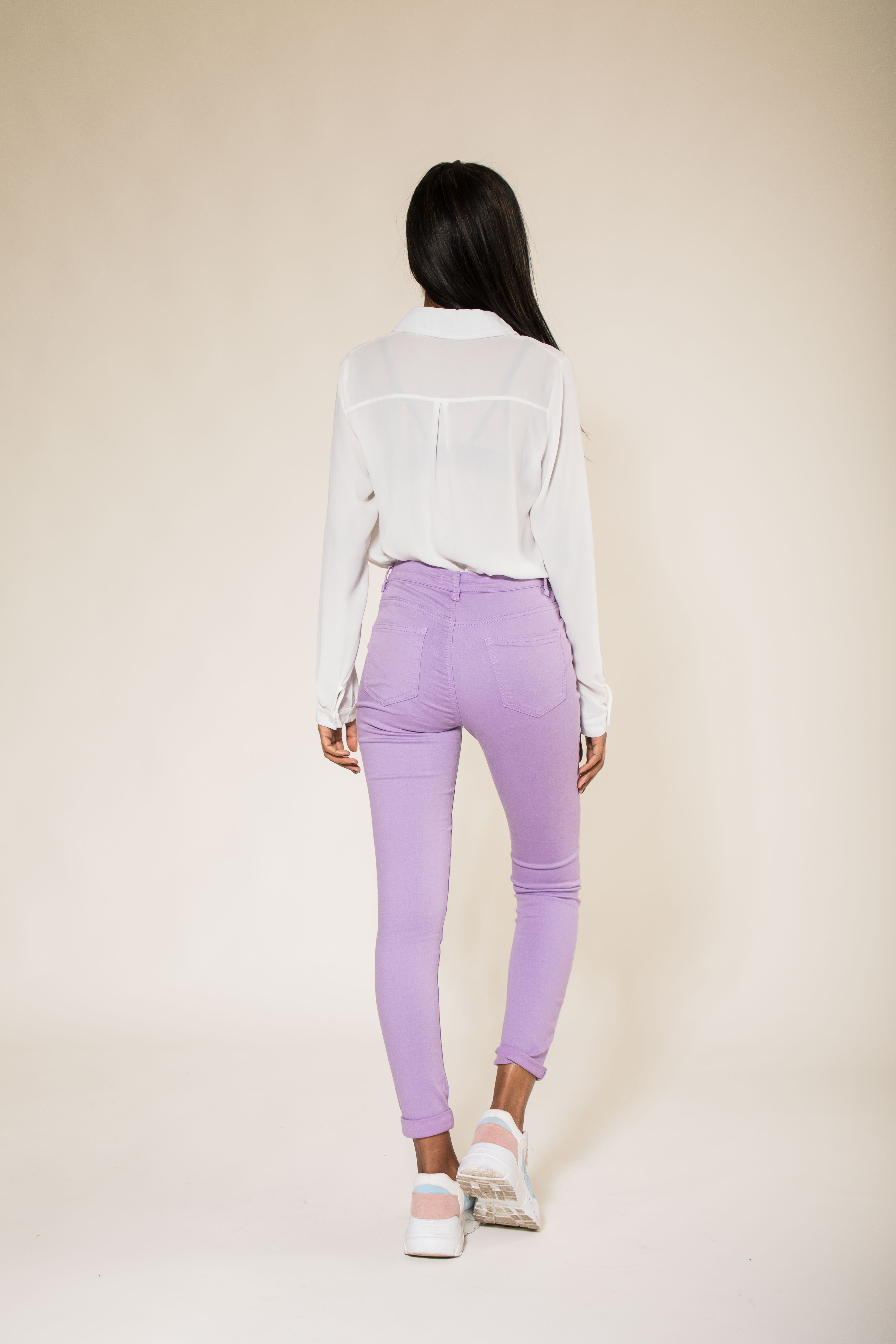 Women-High-Waisted-Jeans-Ladies-Coloured-Stretchy-jeggings-Pants-Size-6-14 thumbnail 32