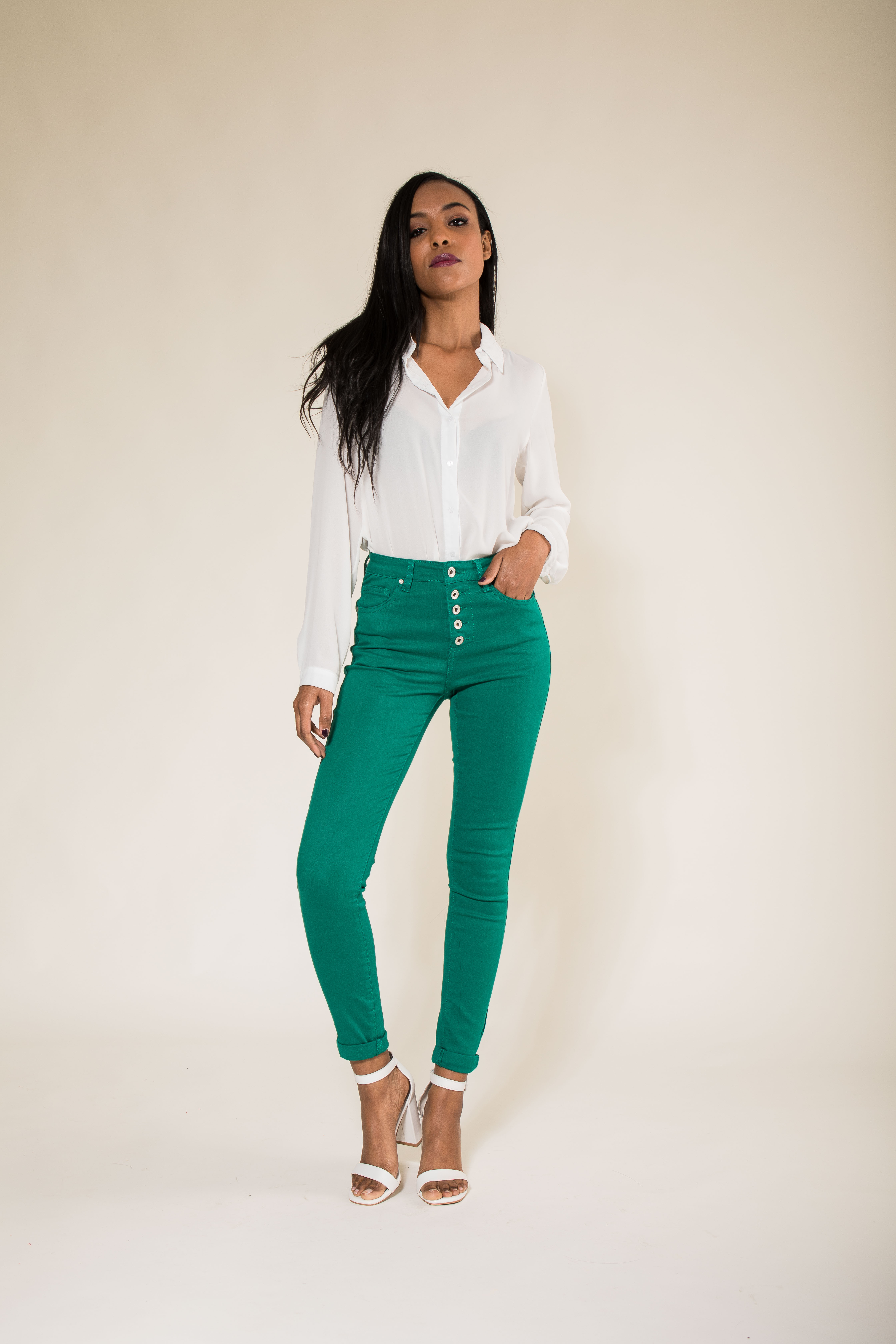 Women-High-Waisted-Jeans-Ladies-Coloured-Stretchy-jeggings-Pants-Size-6-14 thumbnail 21