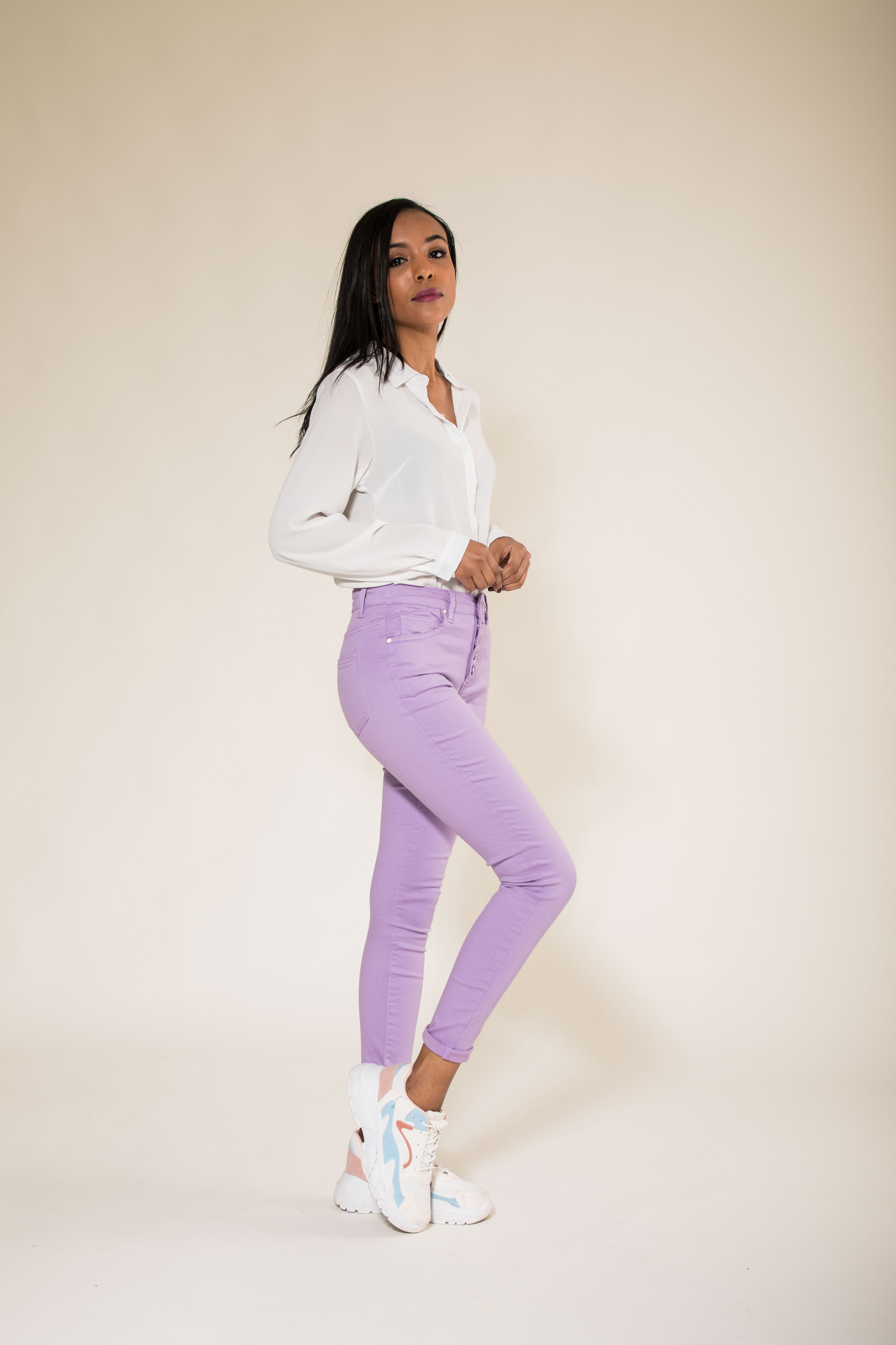Women-High-Waisted-Jeans-Ladies-Coloured-Stretchy-jeggings-Pants-Size-6-14 thumbnail 33