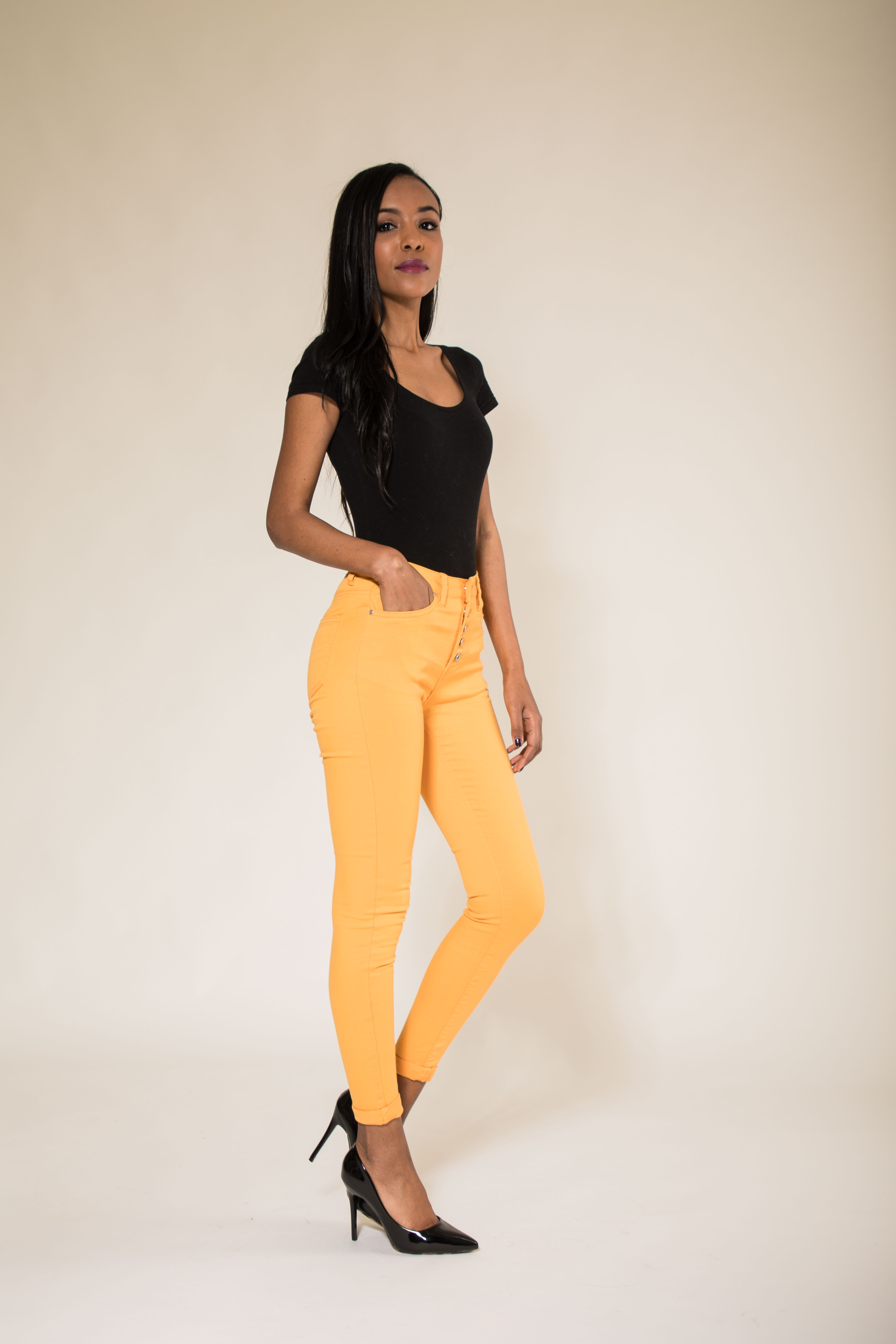 Women-High-Waisted-Jeans-Ladies-Coloured-Stretchy-jeggings-Pants-Size-6-14 thumbnail 10