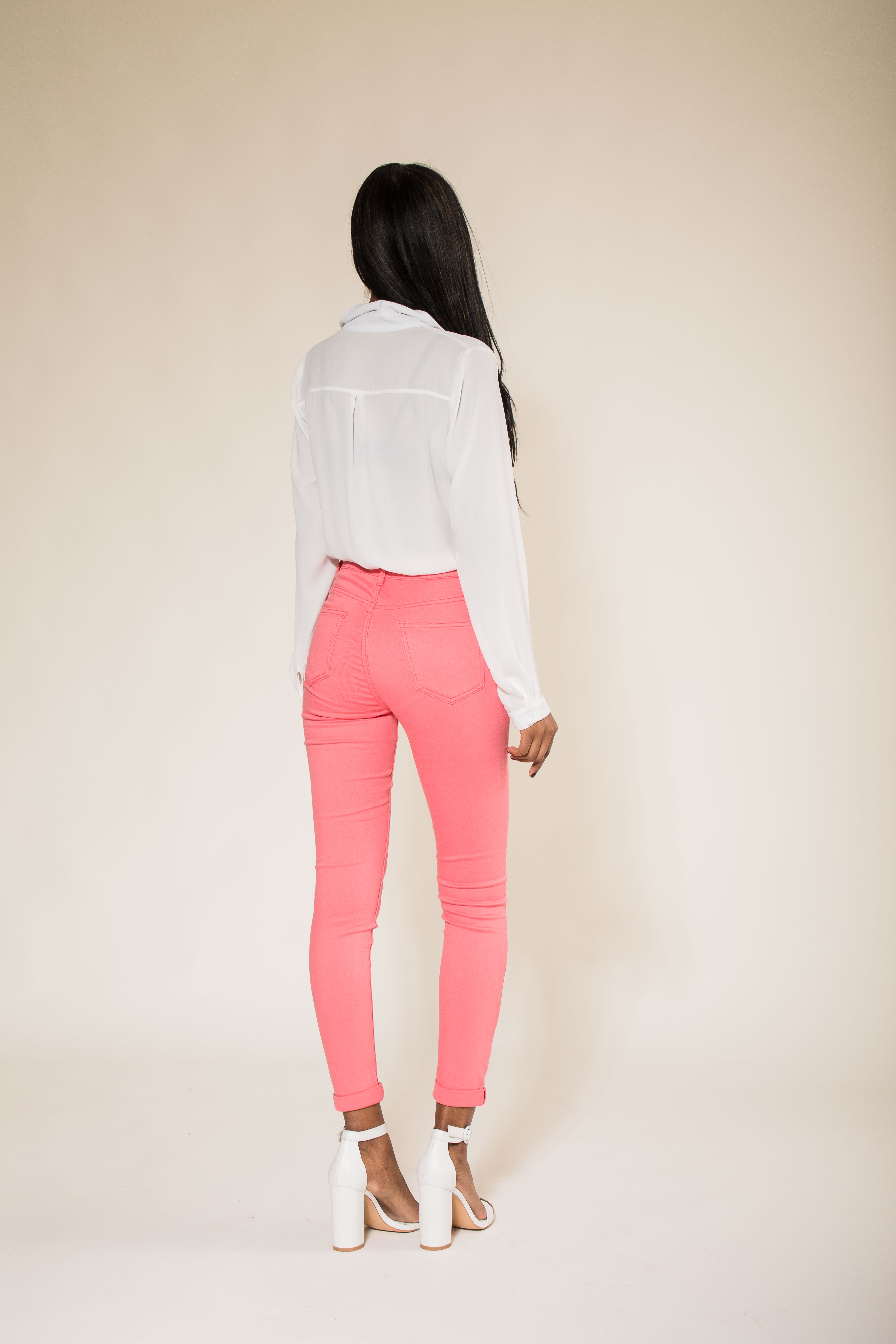 Women-High-Waisted-Jeans-Ladies-Coloured-Stretchy-jeggings-Pants-Size-6-14 thumbnail 24