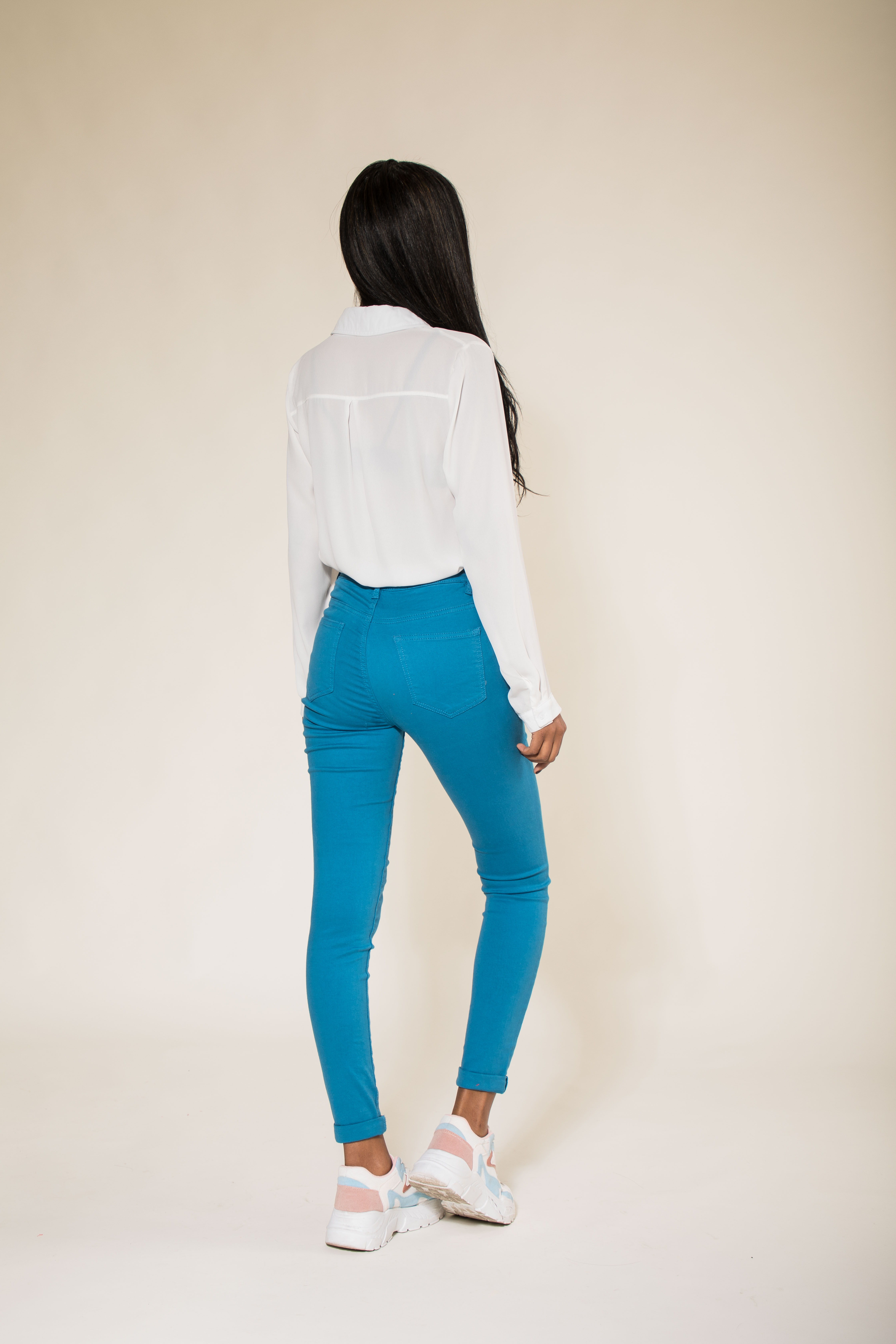 Women-High-Waisted-Jeans-Ladies-Coloured-Stretchy-jeggings-Pants-Size-6-14 thumbnail 15