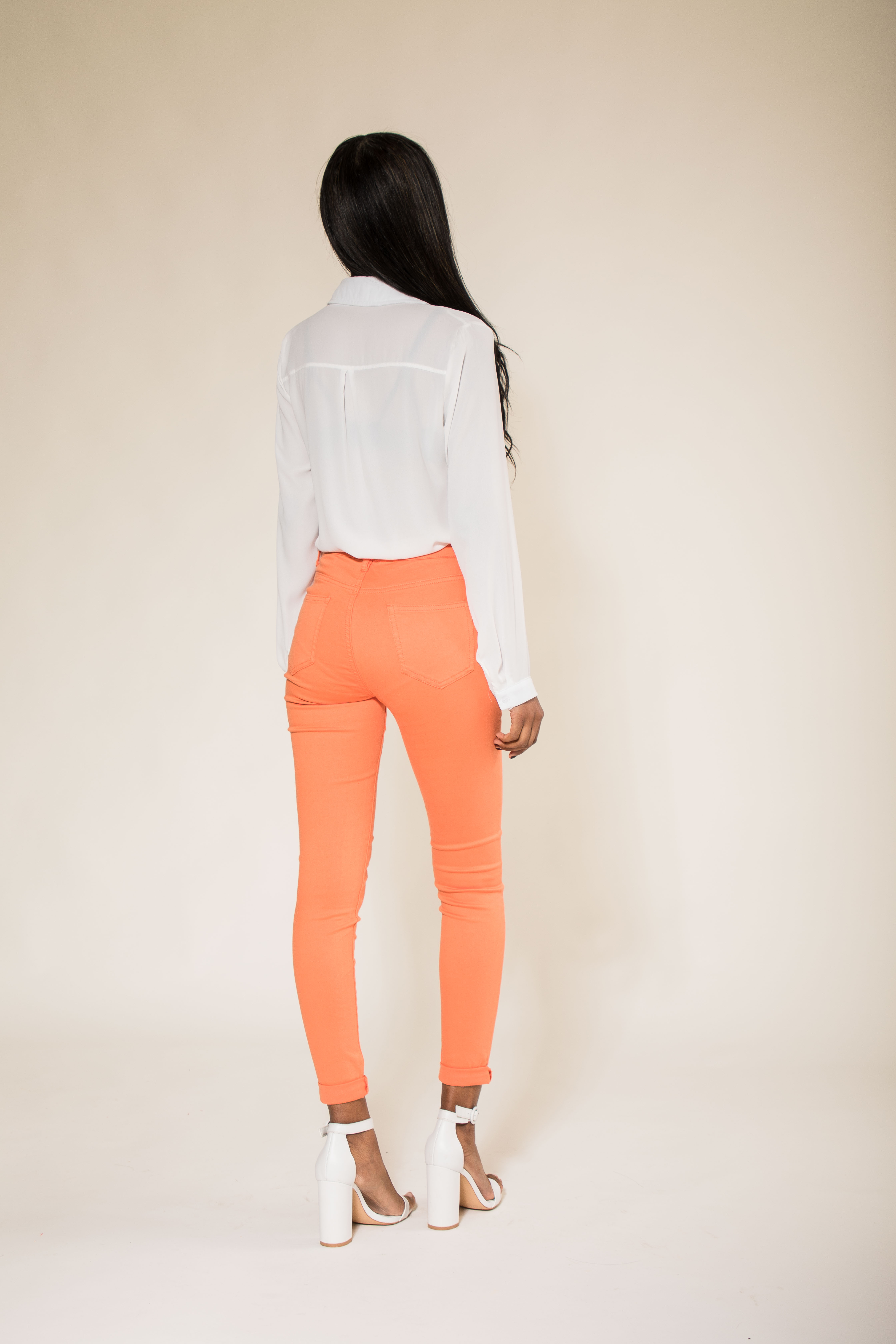 Women-High-Waisted-Jeans-Ladies-Coloured-Stretchy-jeggings-Pants-Size-6-14 thumbnail 30
