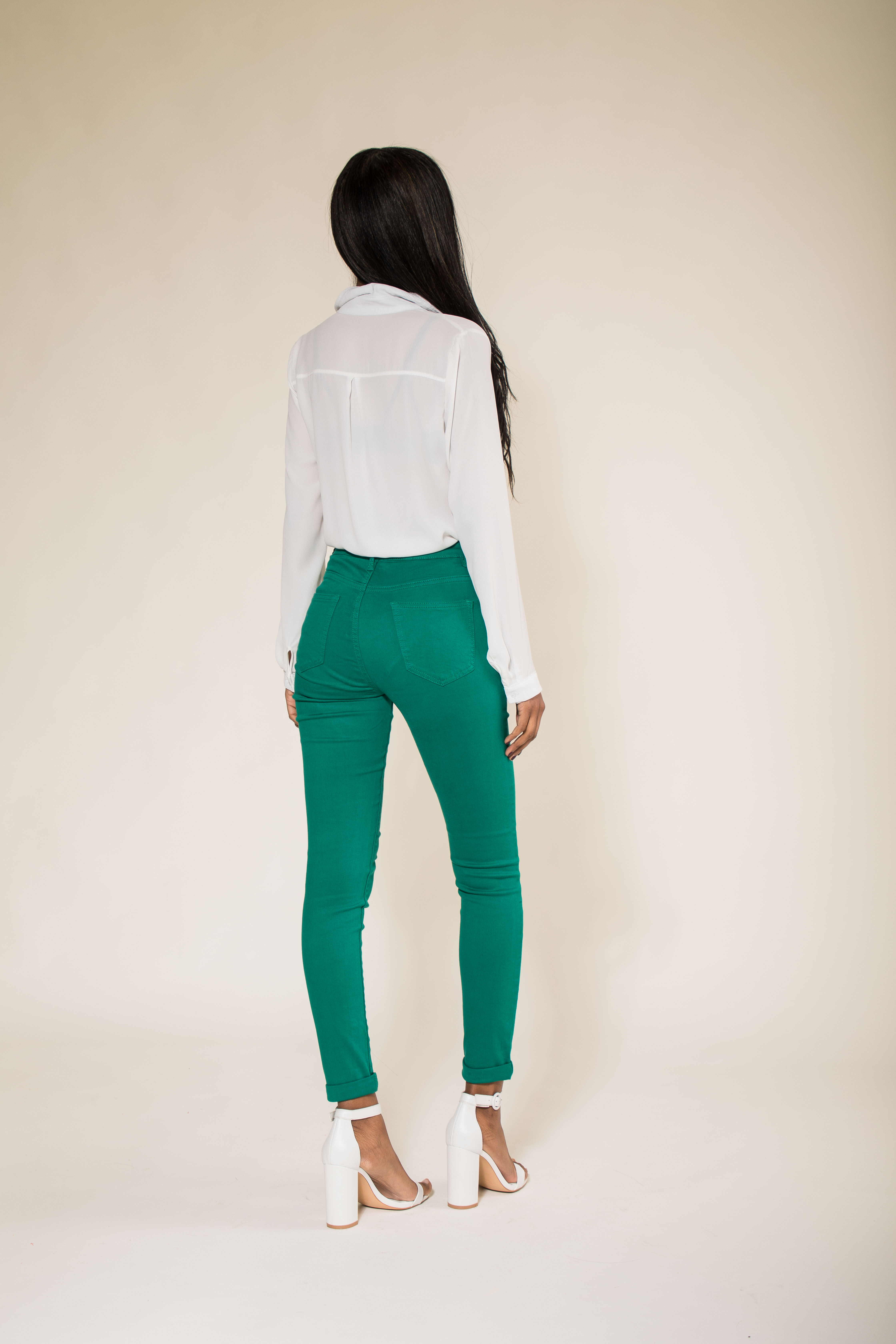 Women-High-Waisted-Jeans-Ladies-Coloured-Stretchy-jeggings-Pants-Size-6-14 thumbnail 22
