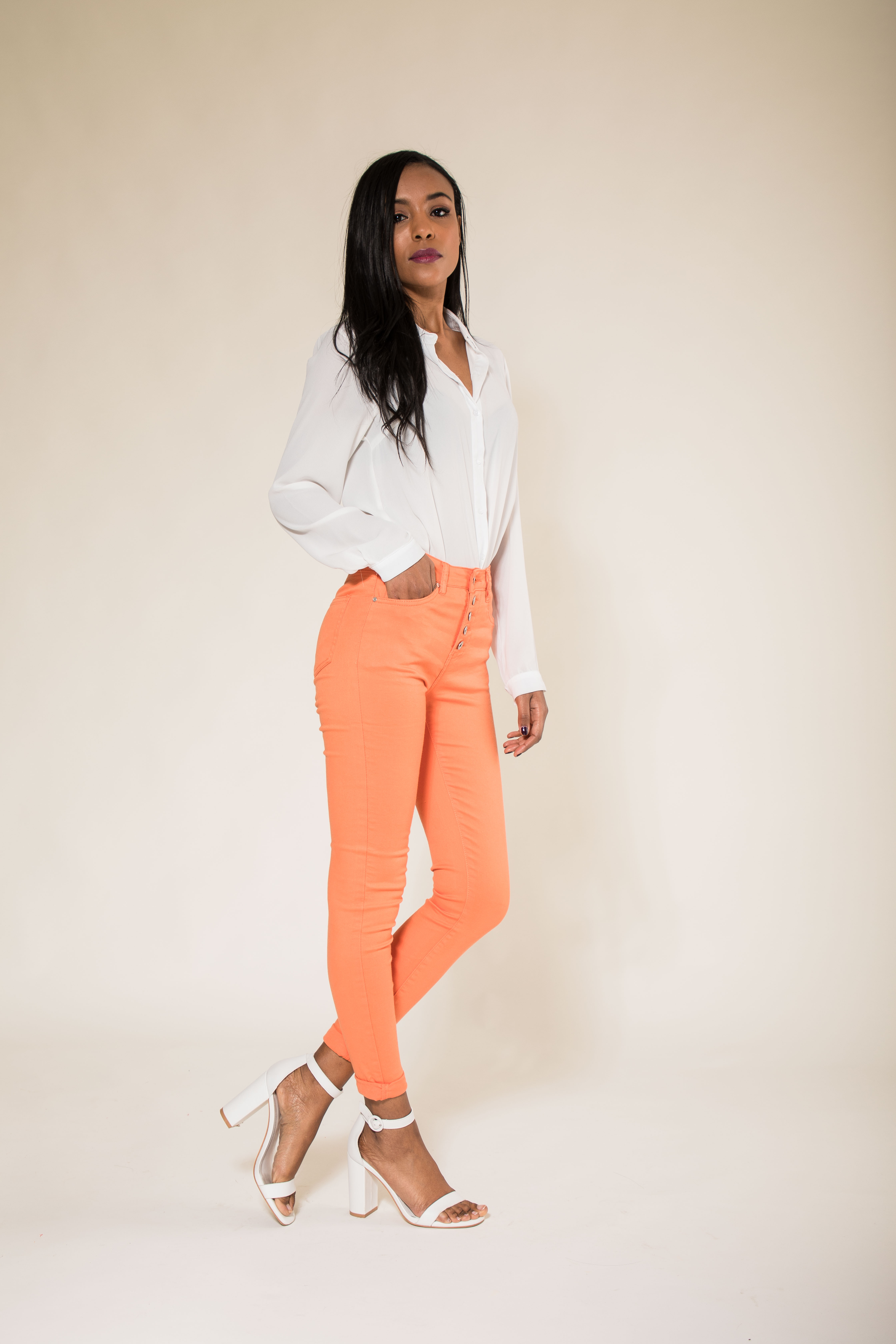 Women-High-Waisted-Jeans-Ladies-Coloured-Stretchy-jeggings-Pants-Size-6-14 thumbnail 29